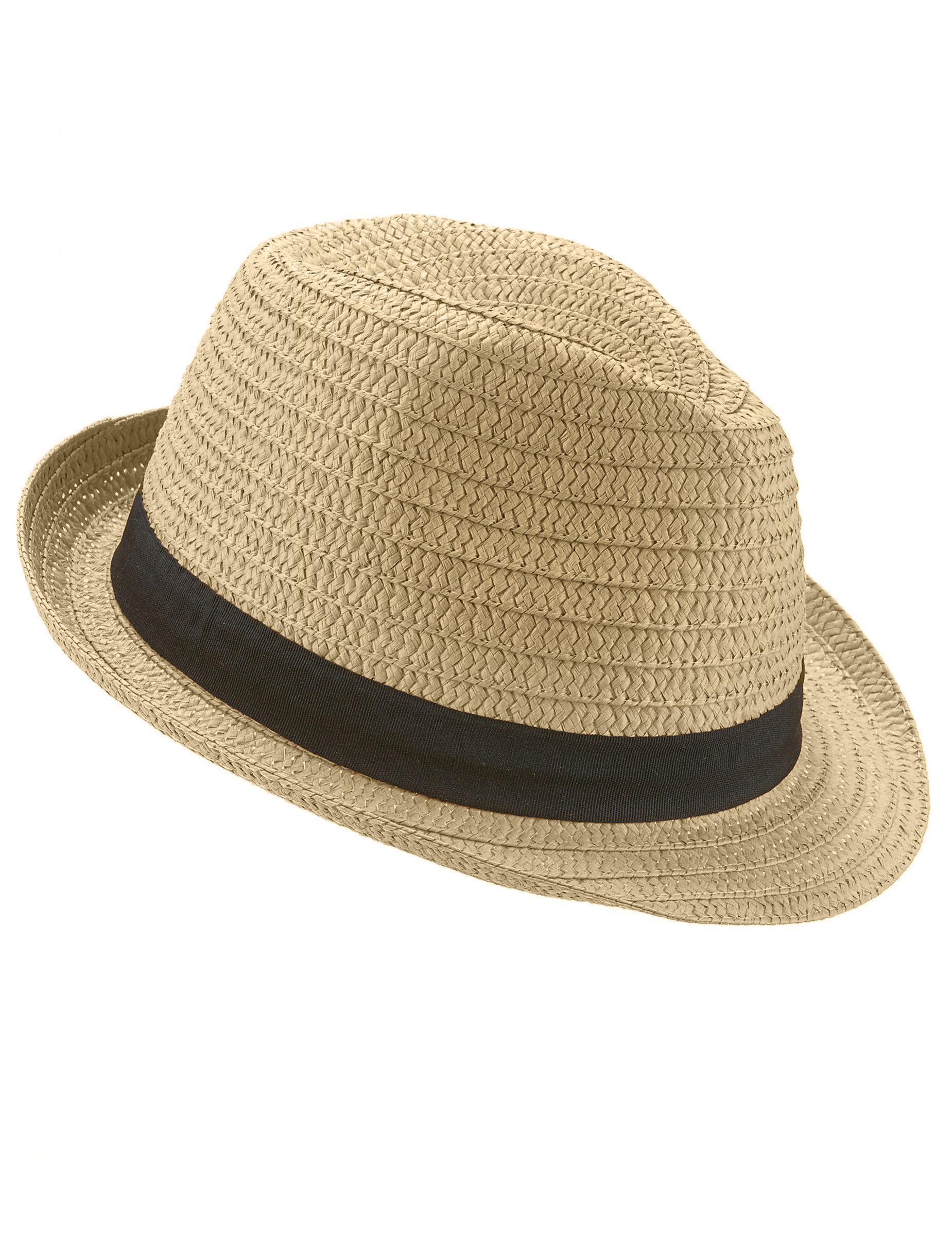 Sombrero borsalino con banda negra adulto  Sombreros 2f2d3364e1b