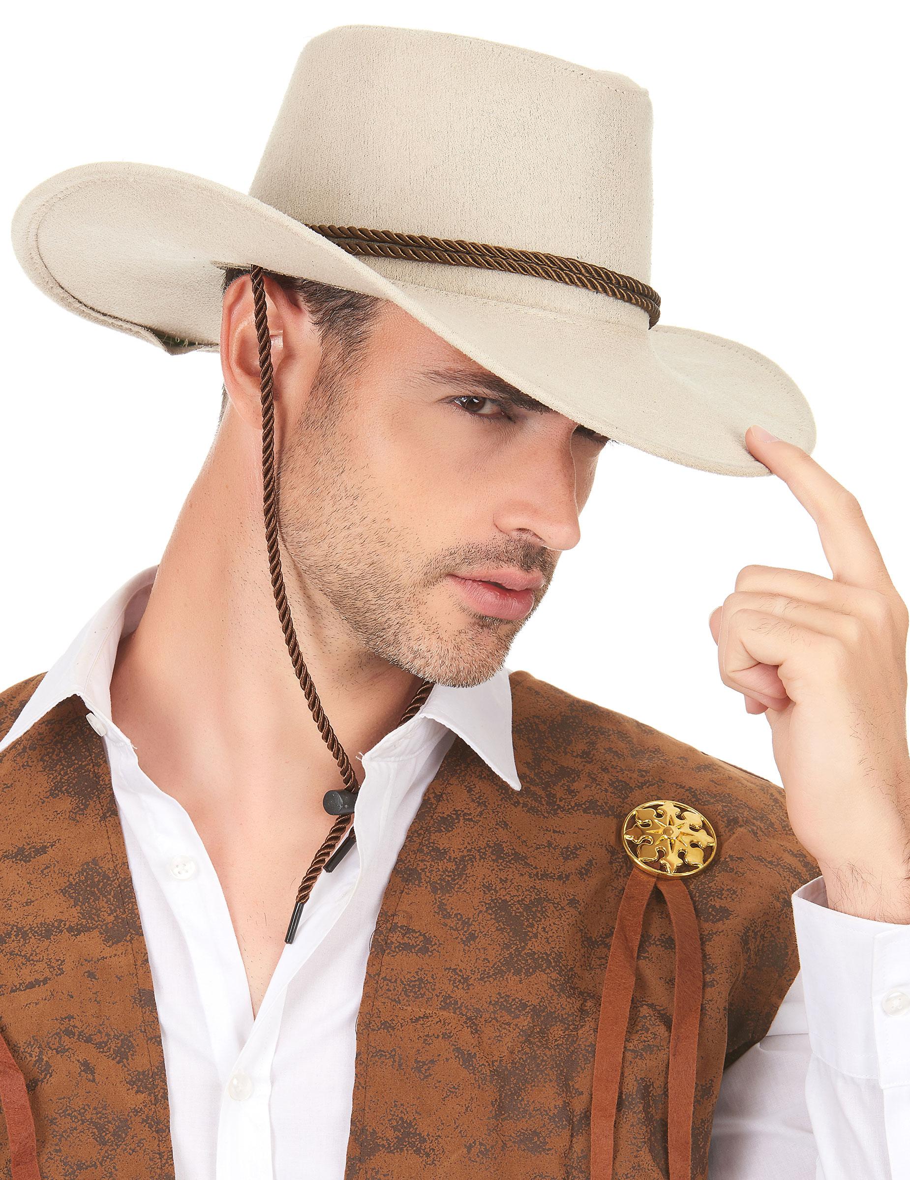 Sombrero vaquero beige adulto  Sombreros 9e71487dac2