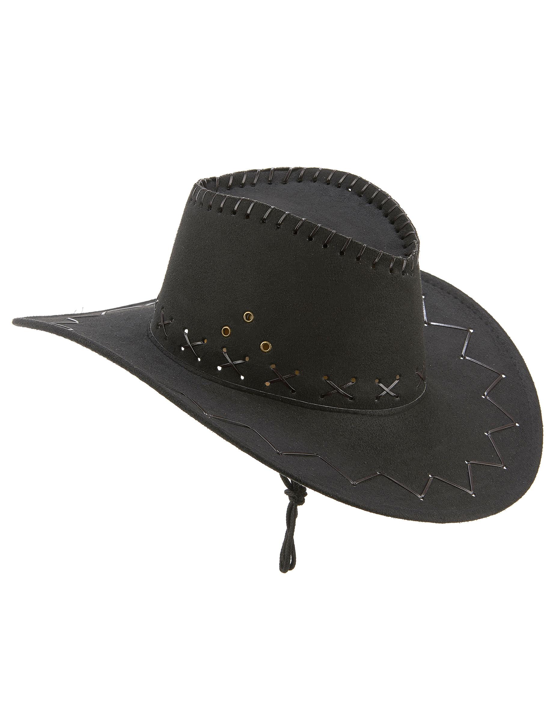 Sombrero vaquero negro adulto  Sombreros 1f9d7ca703a