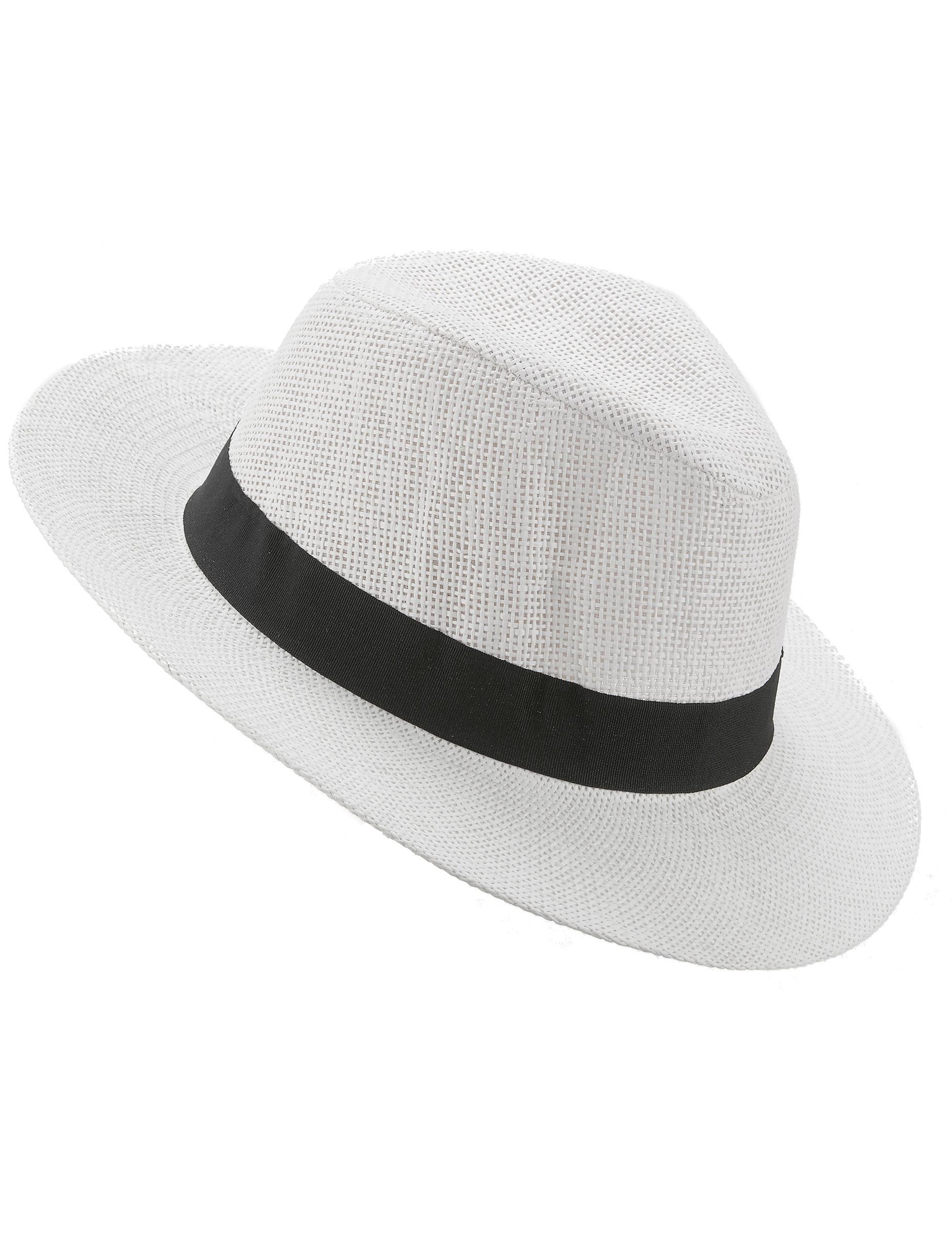 9990b030fac6d Sombrero Panamá con cinta negra adulto  Sombreros