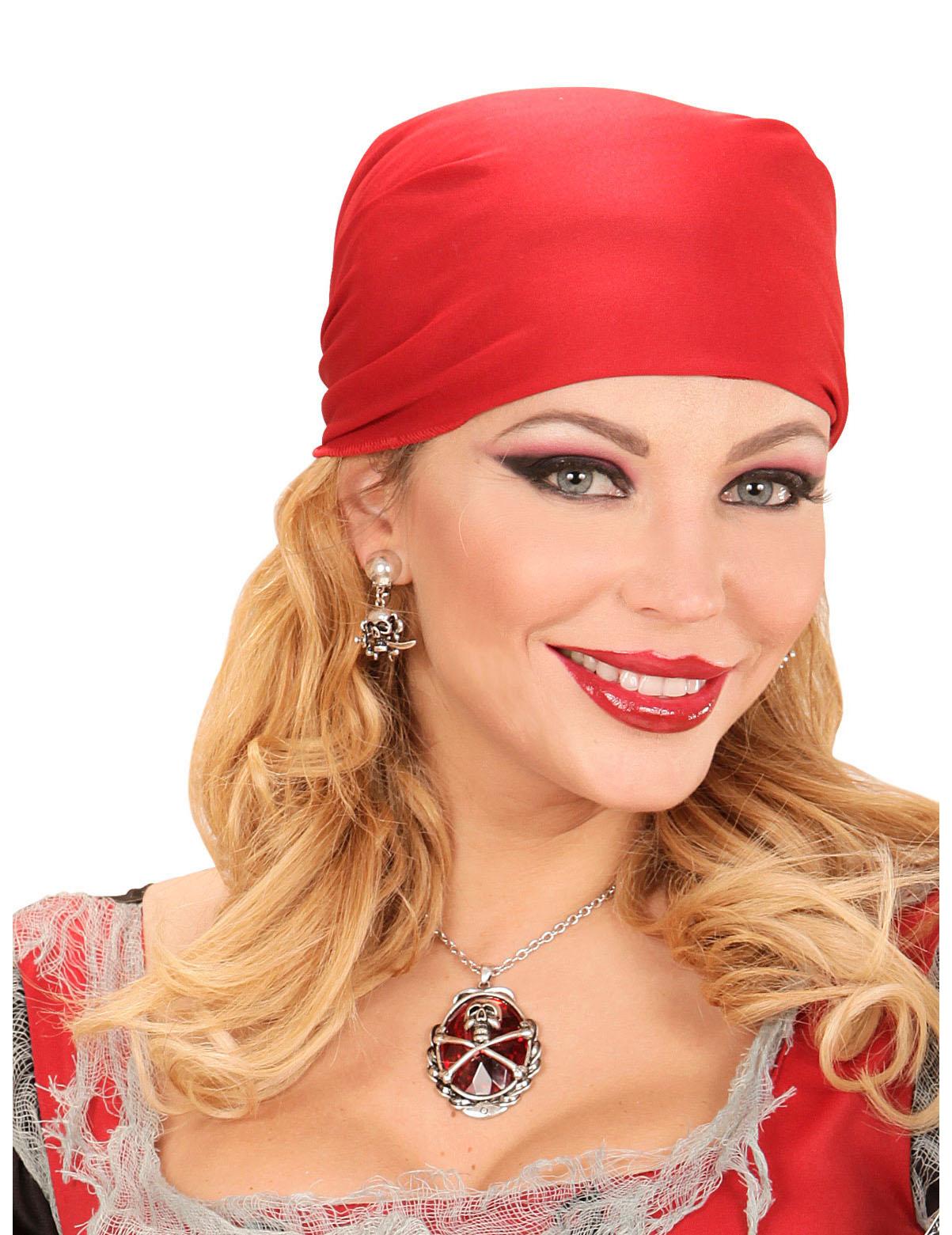 f5275a40c5f1 Collar piedra preciosa rojo pirata mujer  Accesorios