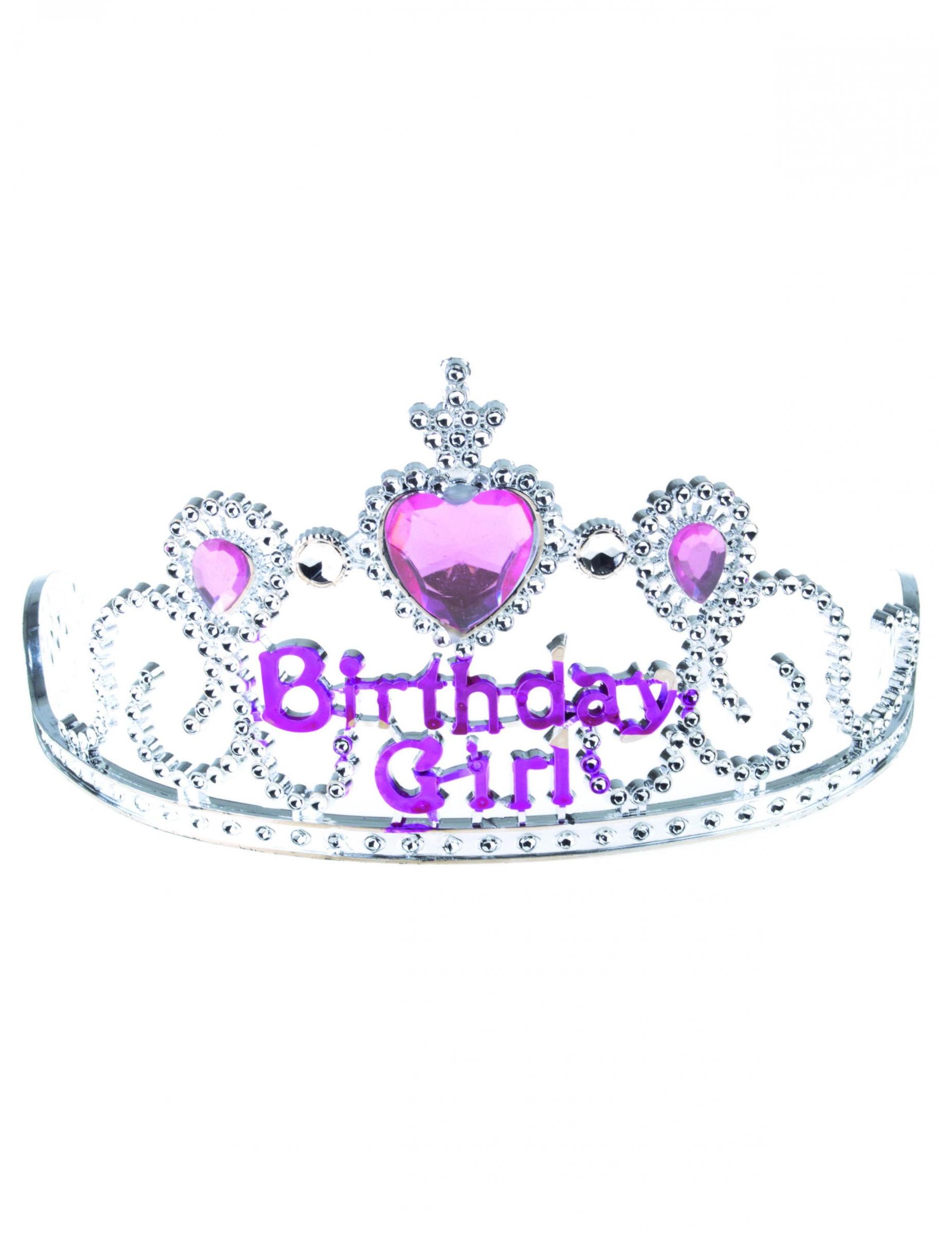 mejores zapatos ropa deportiva de alto rendimiento incomparable Diadema de princesa Birthday girl plateada y rosa