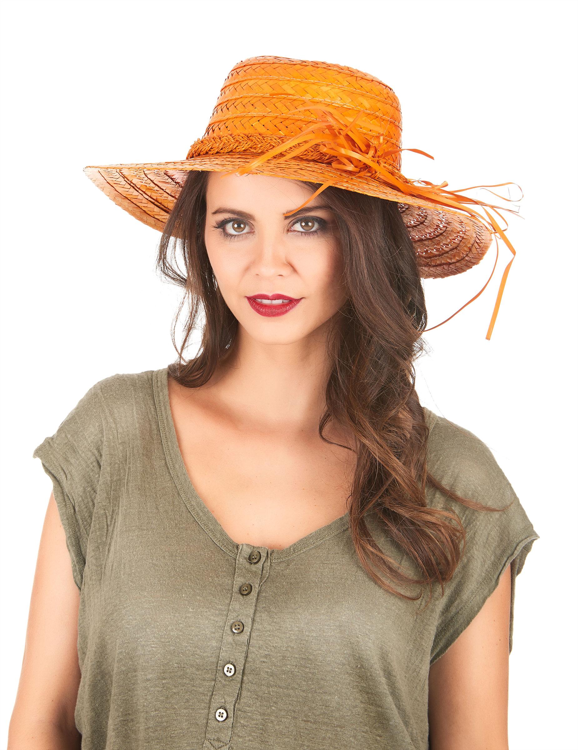Sombrero negro vintage para mujer