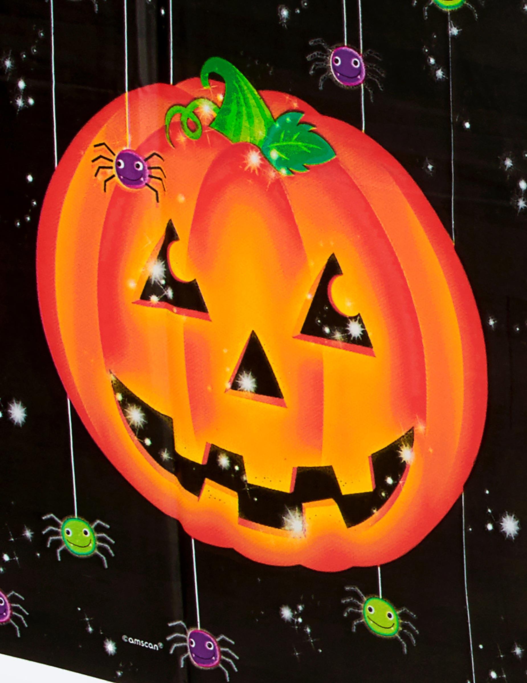 Mantel de plstico calabazas Halloween Decoraciny disfraces
