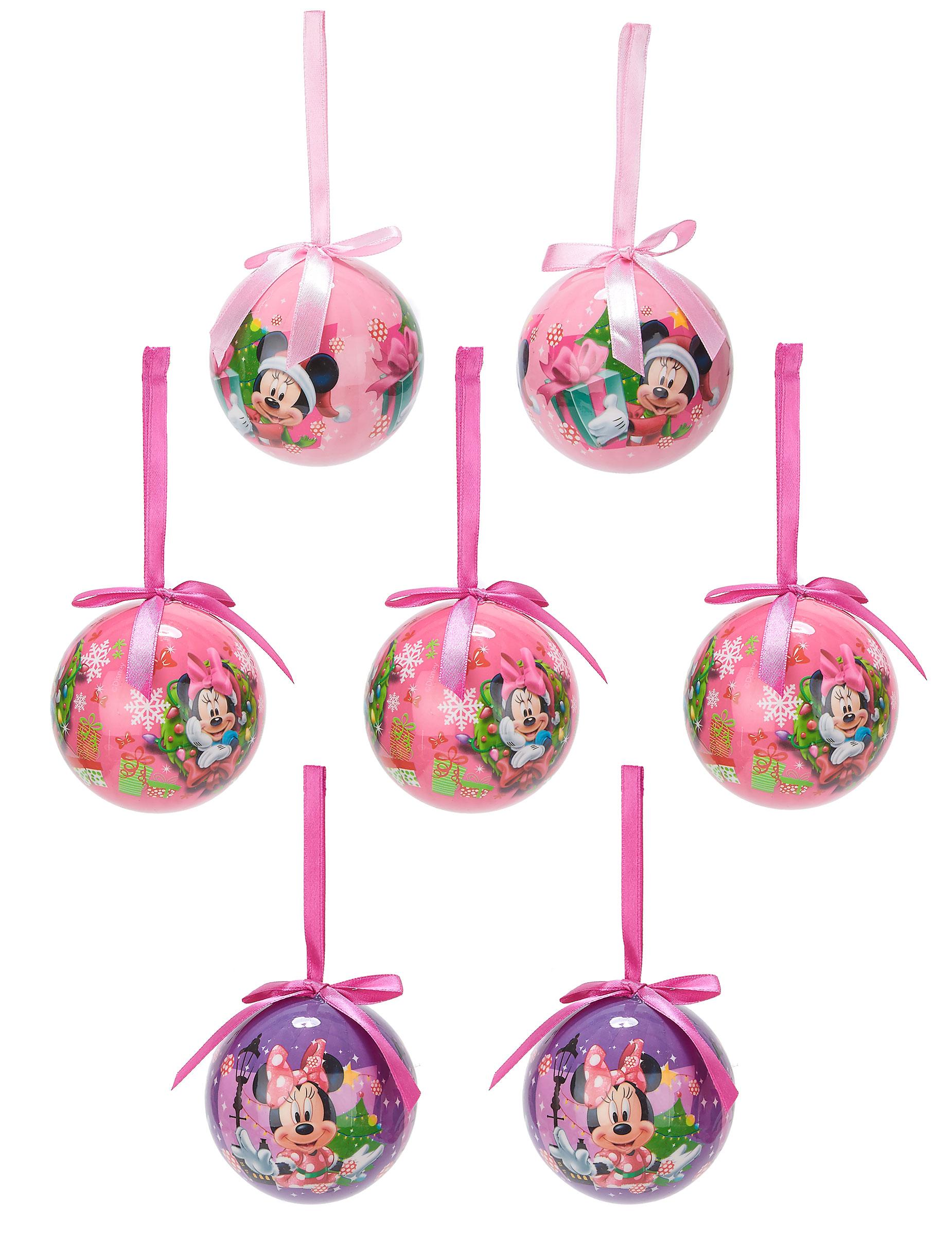 7 Bolas de Navidad Minnie 75 cm Decoraciny disfraces originales