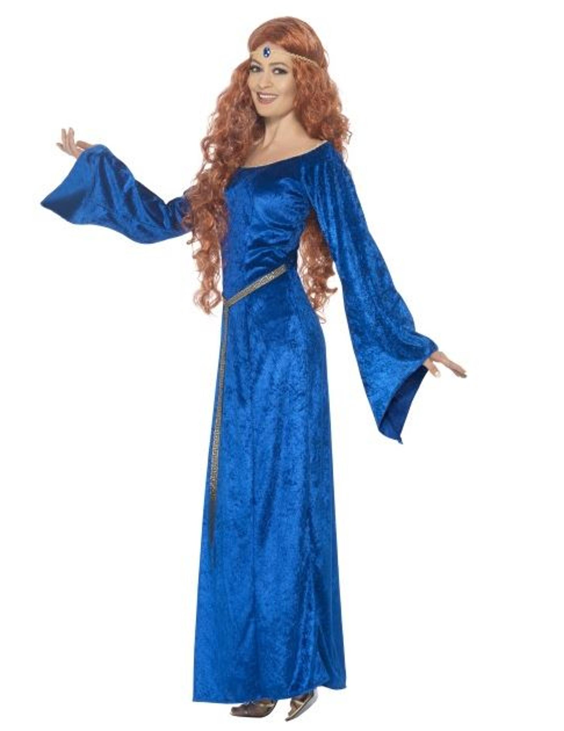 Disfraz medieval azul mujer disfraces adultos y disfraces originales baratos vegaoo - Costumi da bagno oversize ...