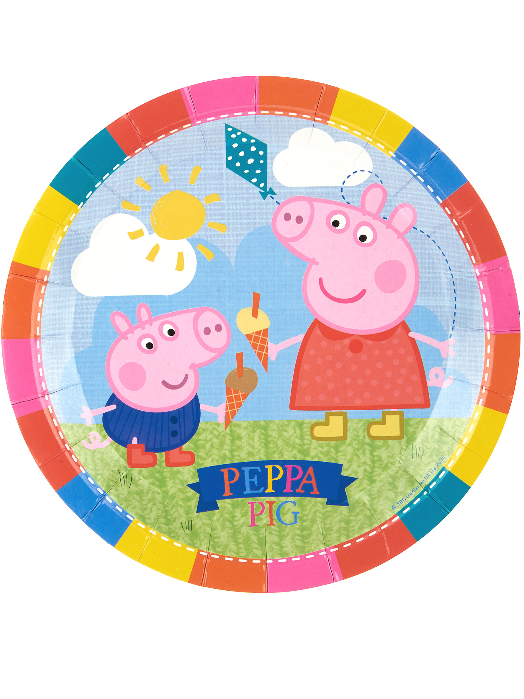 8 Platos De Cart 243 N Peppa Pig Decoraci 243 N Y Disfraces