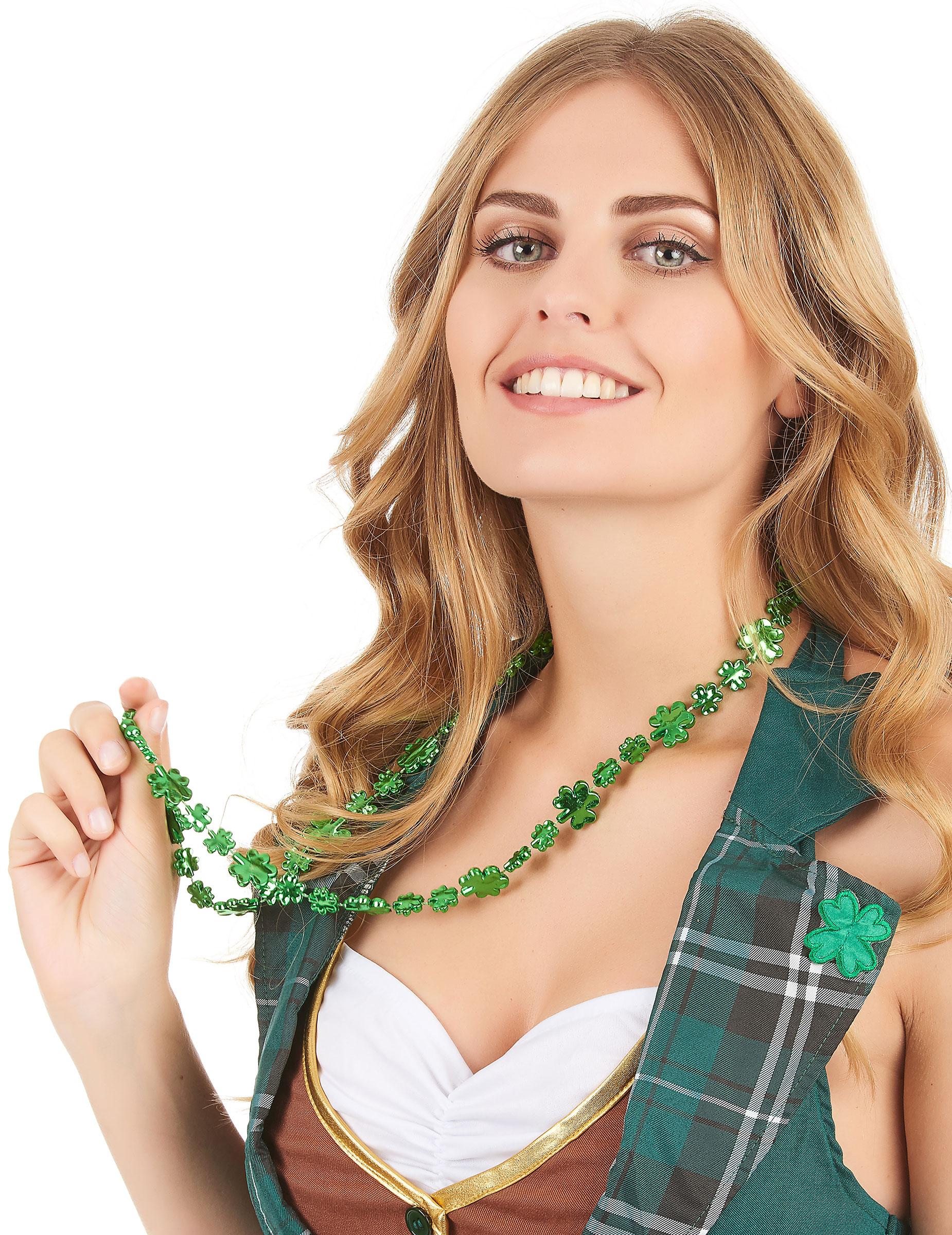 cd237b4d4ab5 Collar verde trébol San Patricio adulto  Accesorios