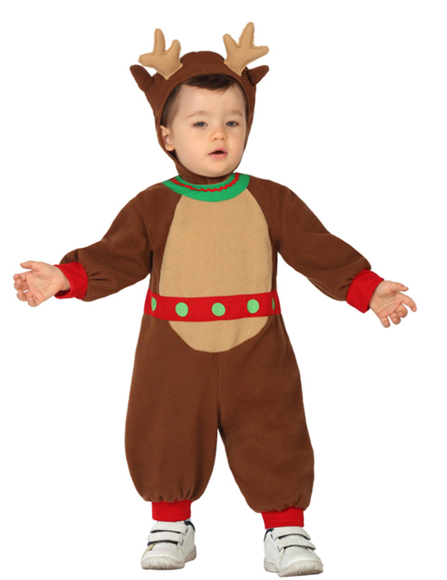 Disfraz reno beb navidad disfraces ni os y disfraces - Disfraces de duendes navidenos para ninos ...