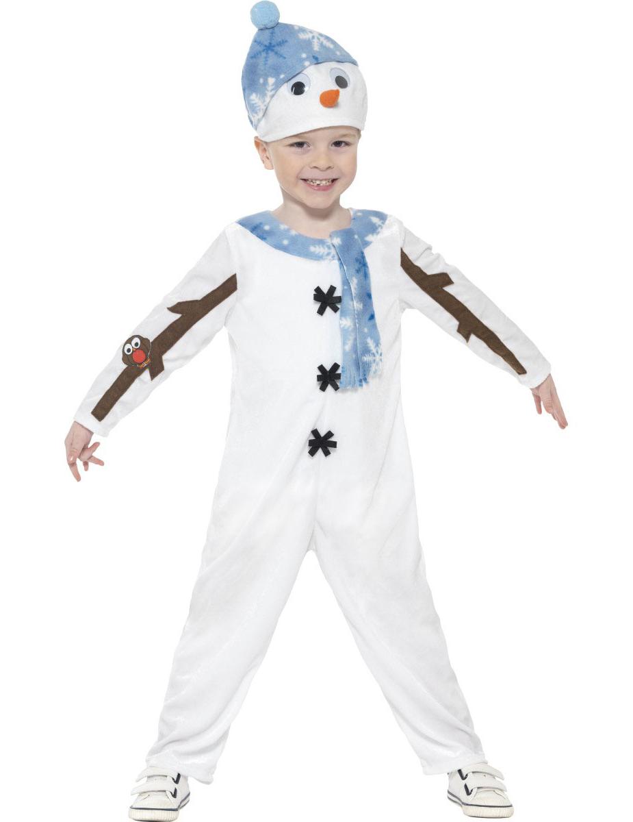 disfraz traje mueco de nieve nio navidad