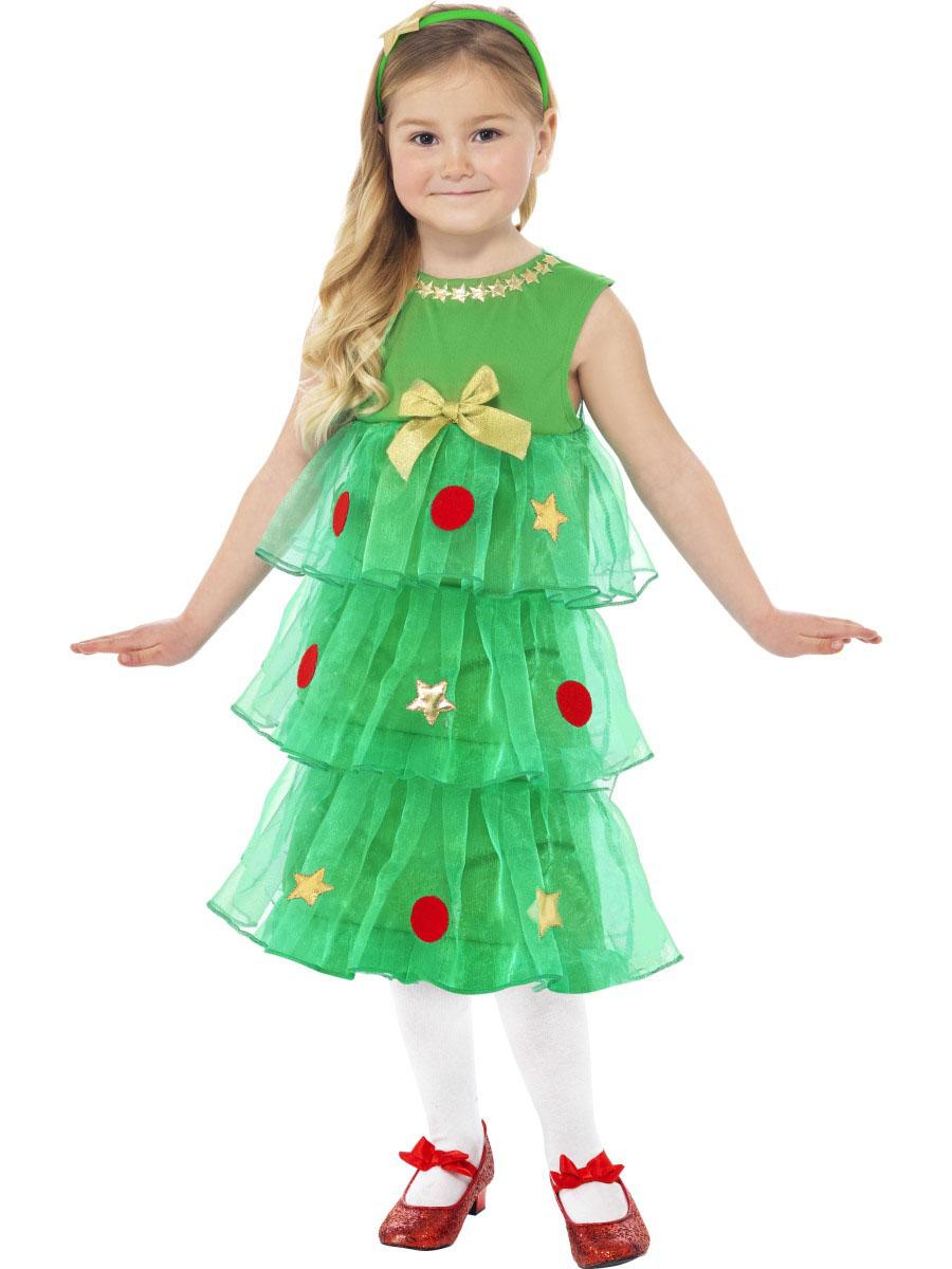 disfraz vestido rbol de navidad nia