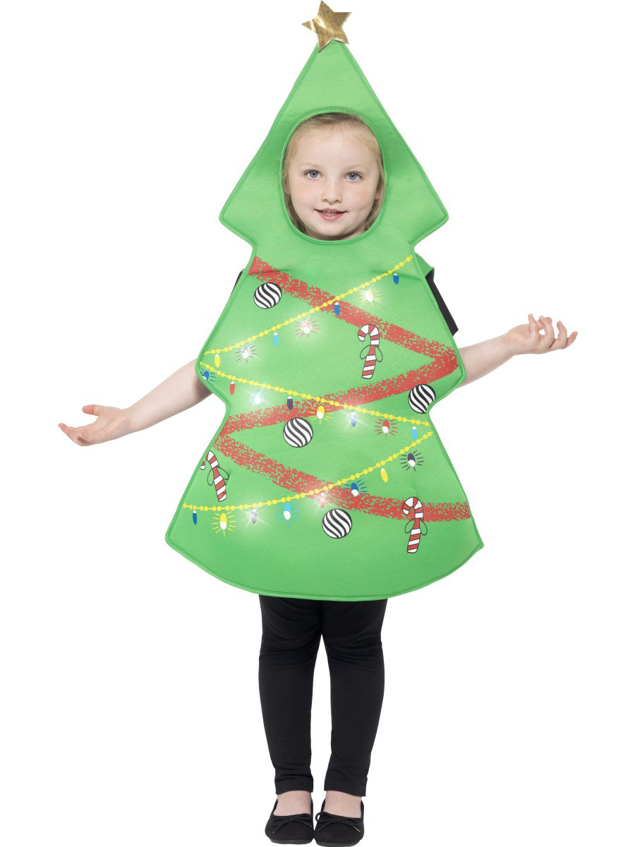 disfraz de rbol de navidad con luces nio navidad