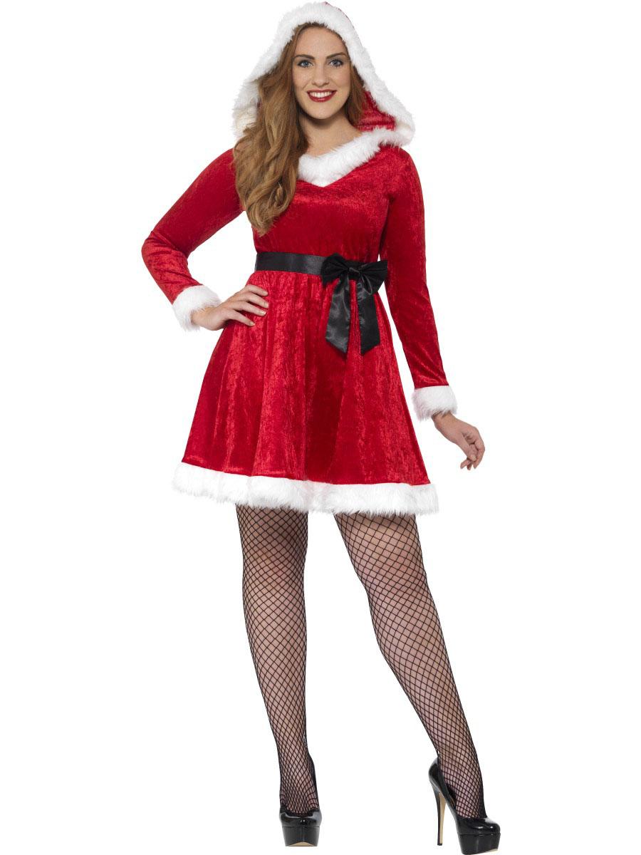 disfraz vestido rojo navidad para mujer