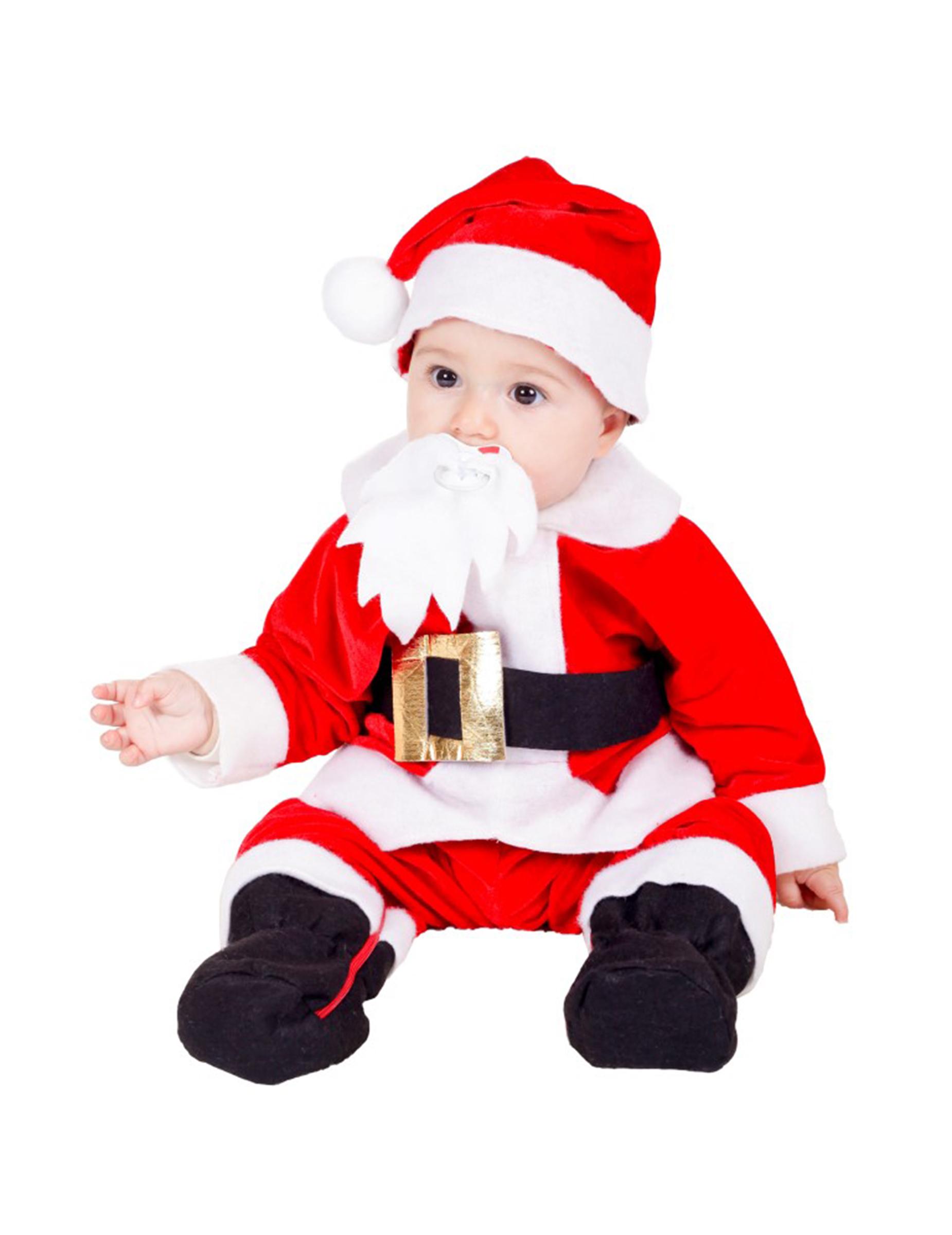 Disfraz De Papa Noel Bebe Premium Disfraces Ninosy Disfraces - Disfraces-papa-noel-bebe