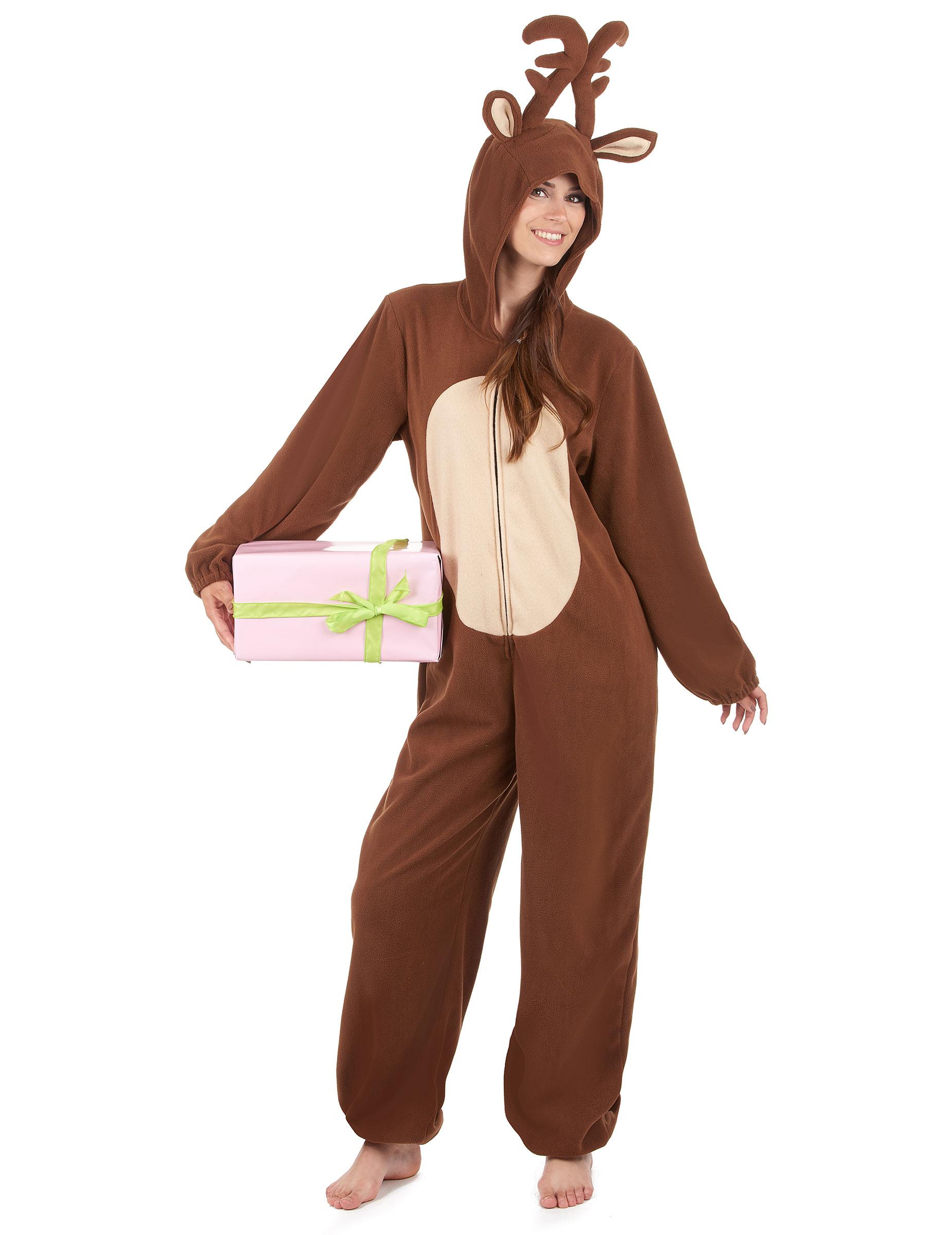 traje con capucha reno mujer