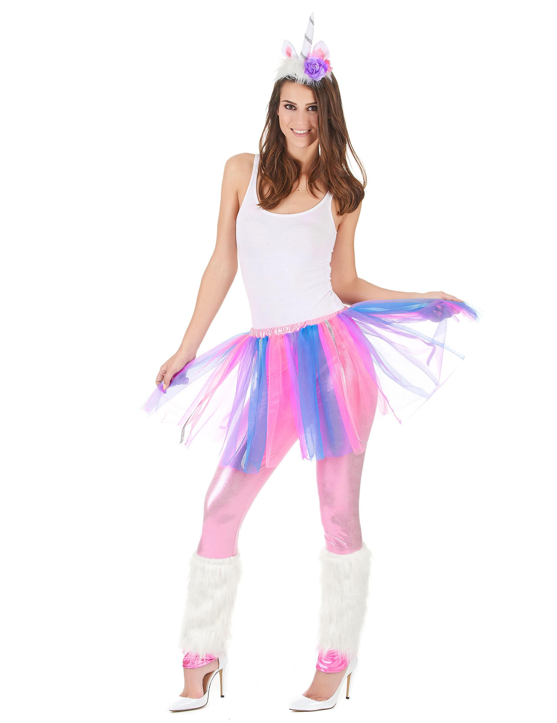 f171d150092b Disfraz de unicornio multicolor mujer: Disfraces adultos,y disfraces ...