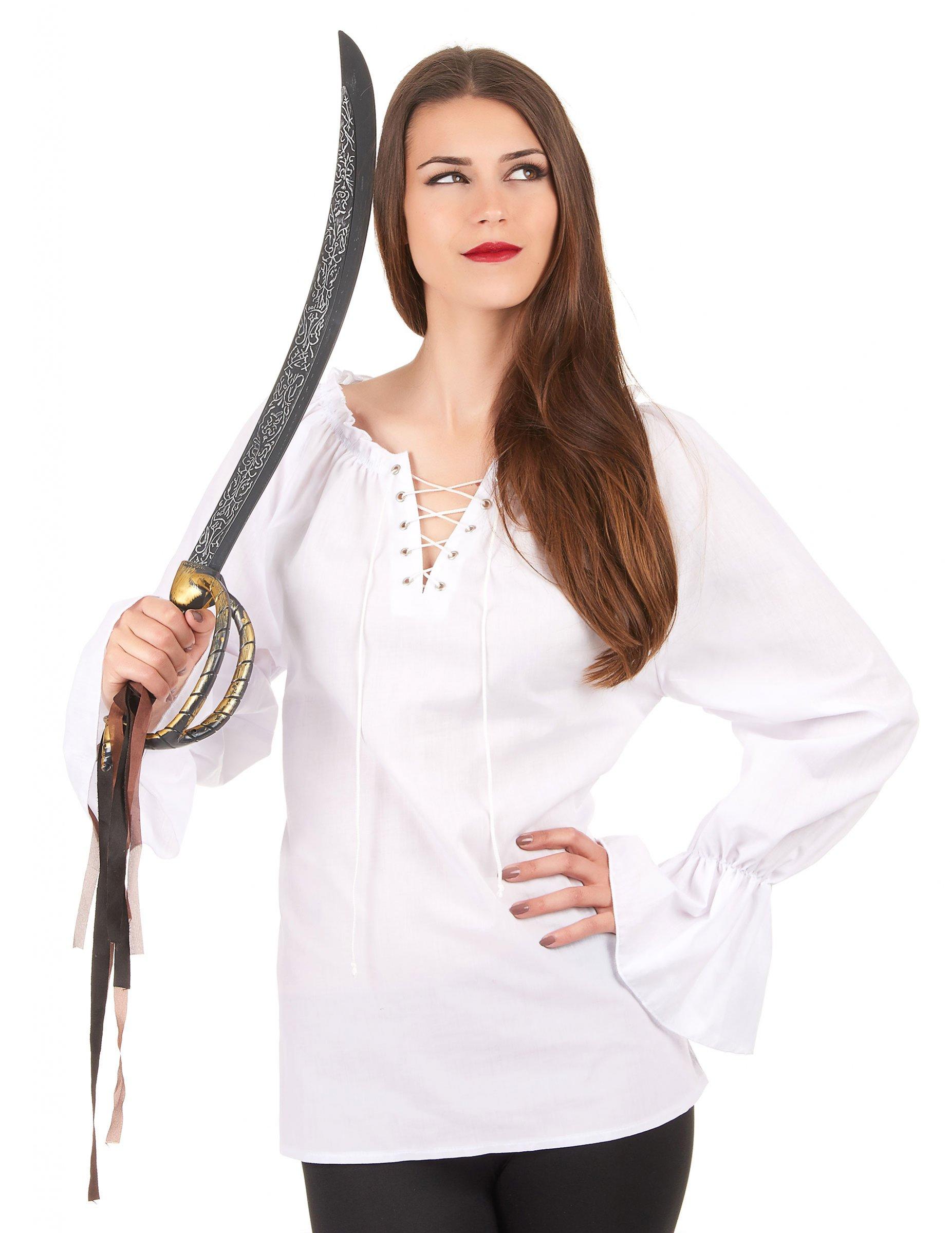 1bf0d4877a Camisa manga larga blanca mujer  Disfraces adultos