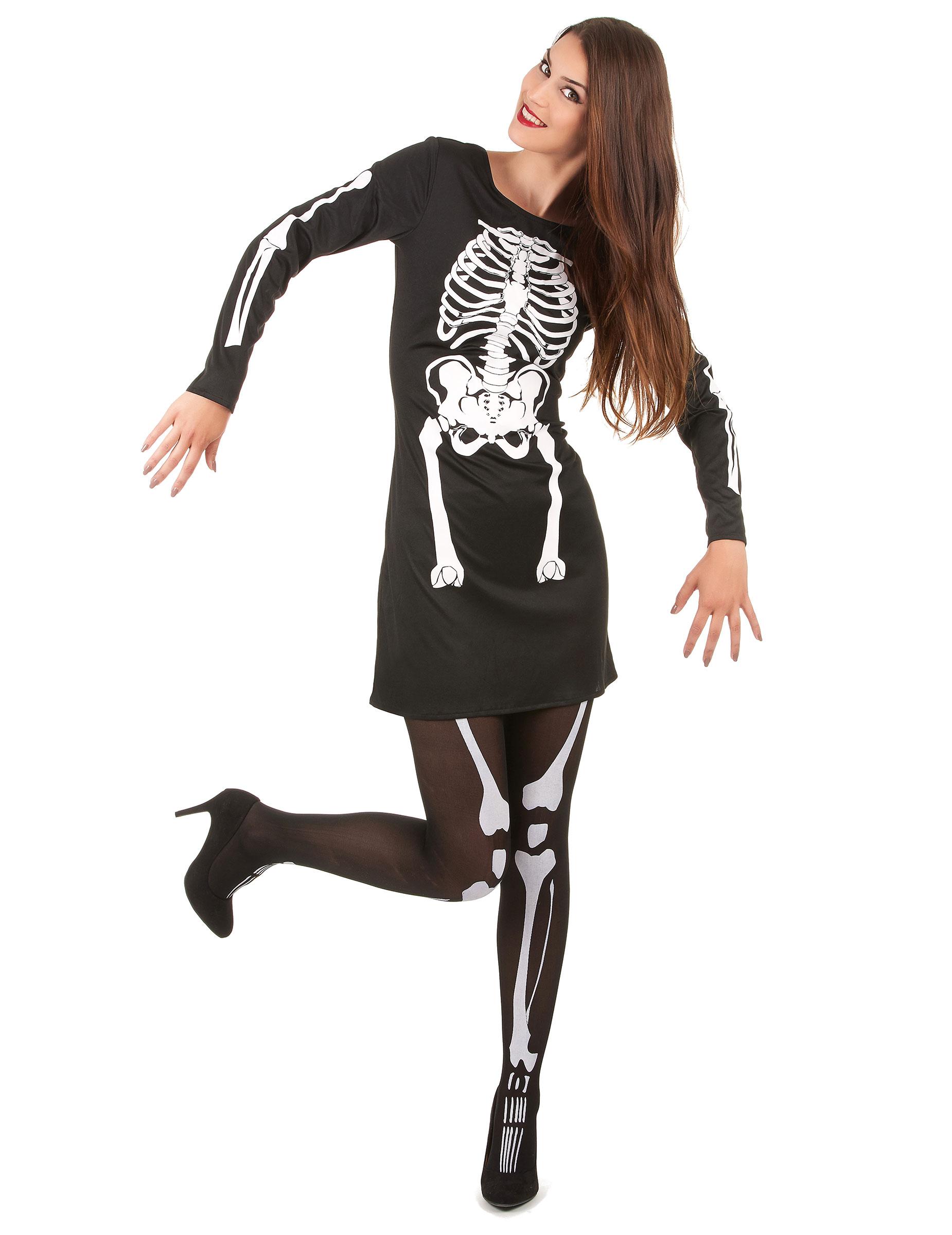 Disfraz Esqueleto Guantes adulto, Tallas: M, L