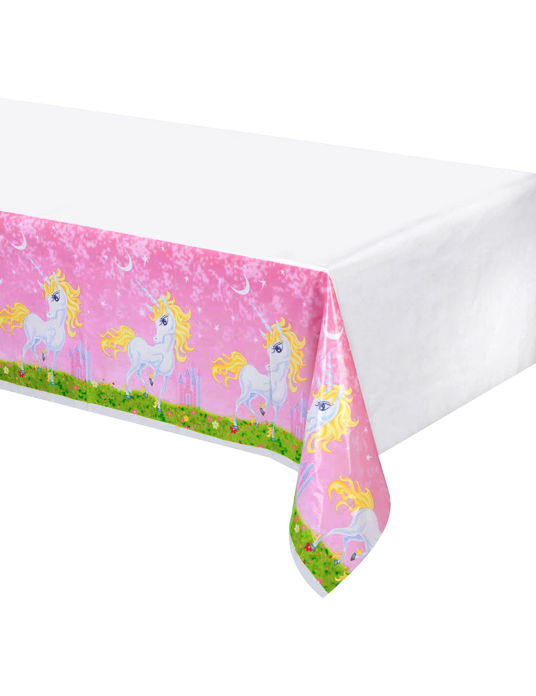 Mantel de pl stico unicornio girly 130x180 cm decoraci n for Decoracion para pared de unicornio