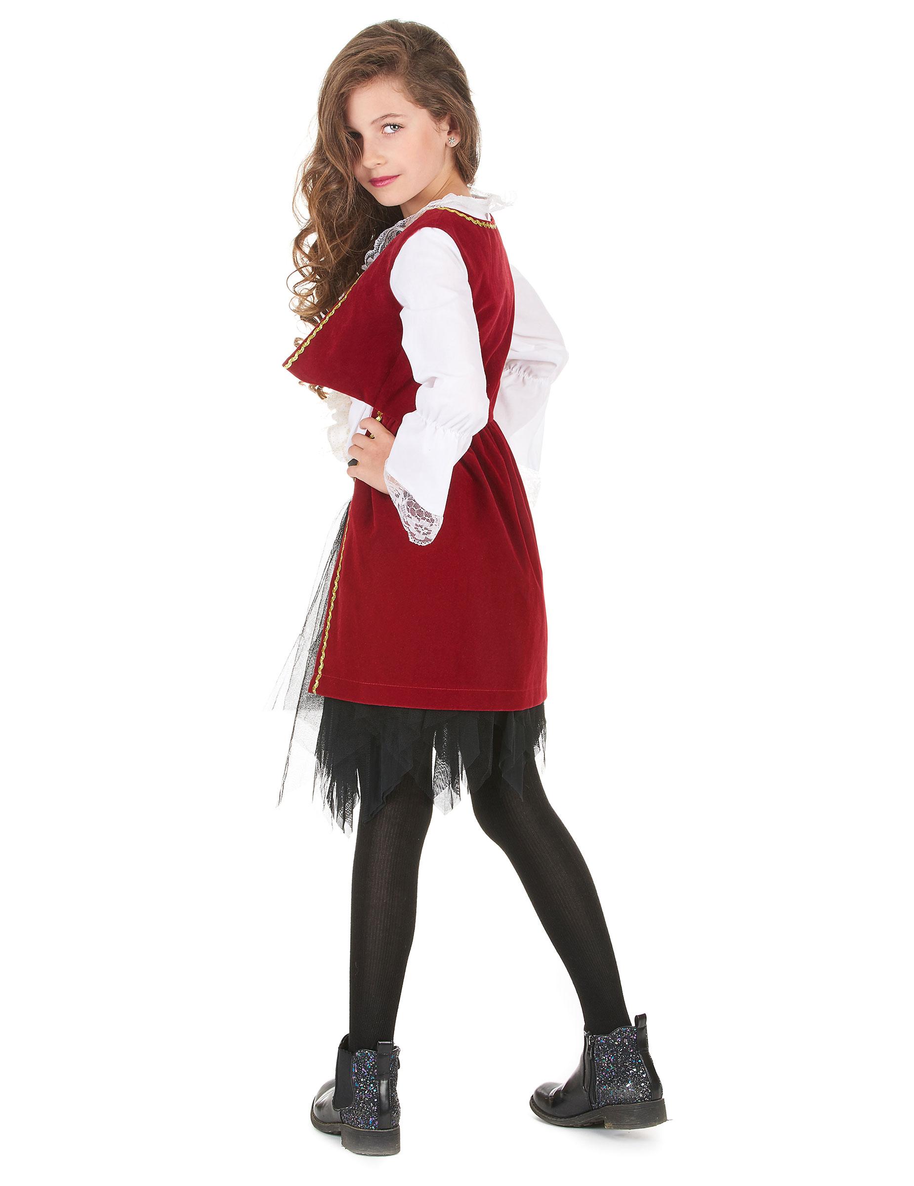Disfraz pirata rojo y tut negro ni a disfraces ni os y - Maquillaje pirata nina ...