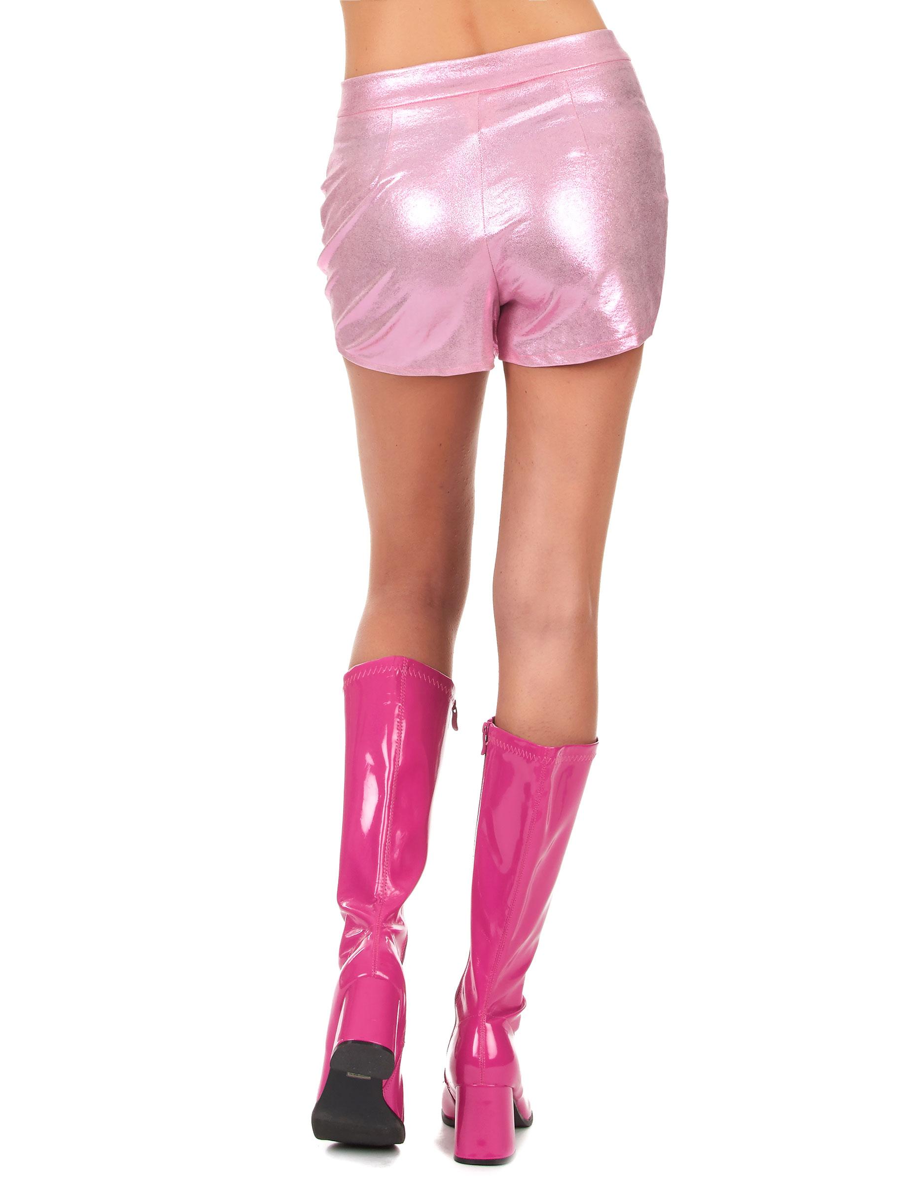 Pantalón corto disco rosa mujer: Disfraces adultos,y disfraces ...