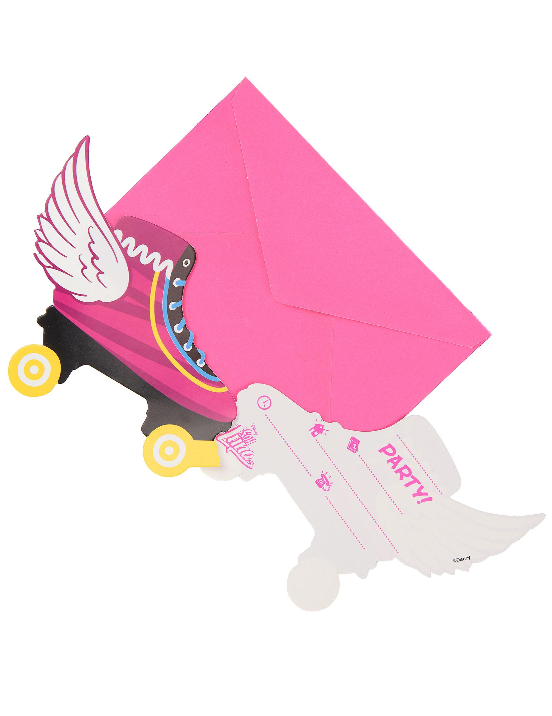 6 Tarjetas de invitación con sobres Soy Luna™: Decoración,y ...
