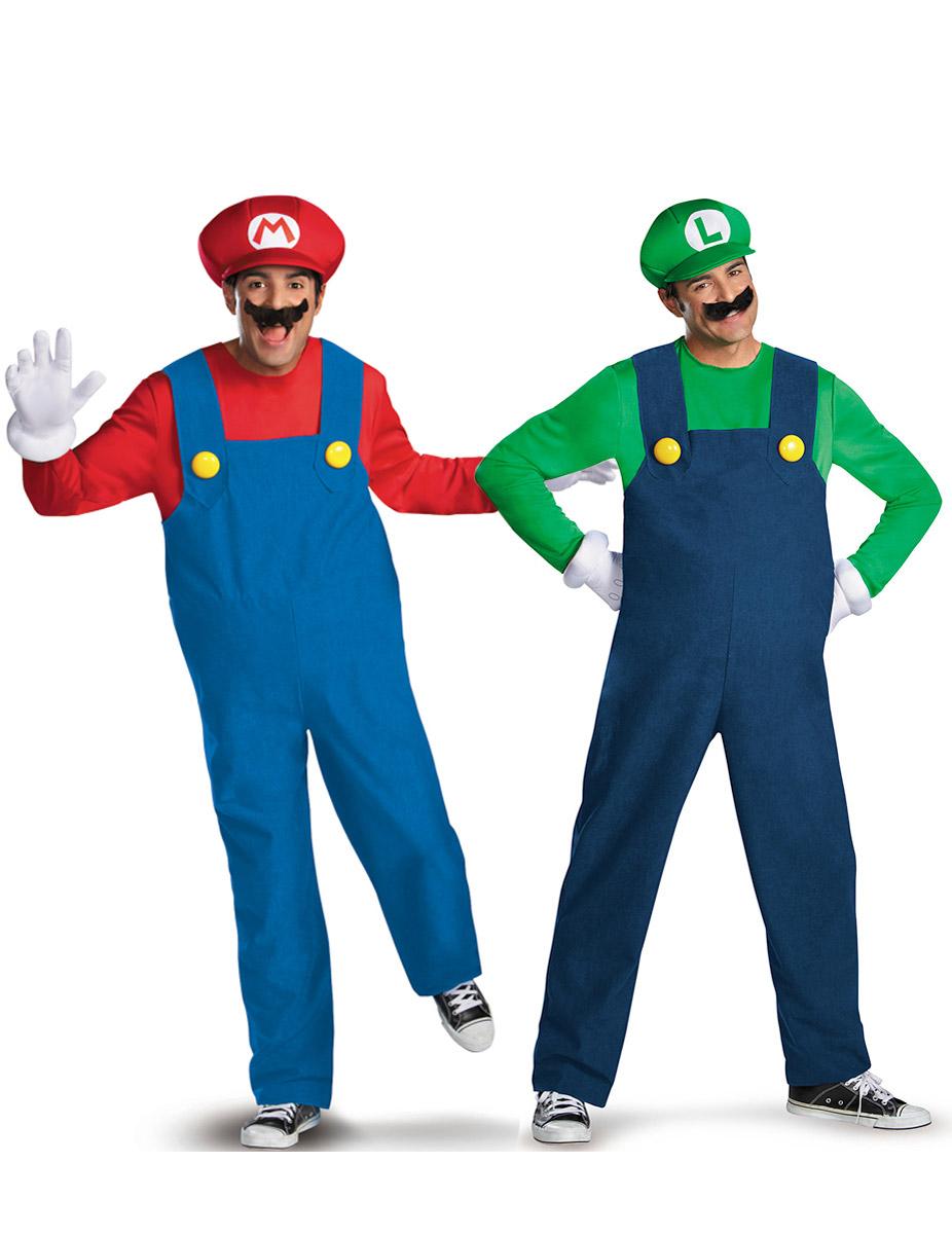 Disfraz de pareja Mario™ y Luigi™ adulto 81278db4316