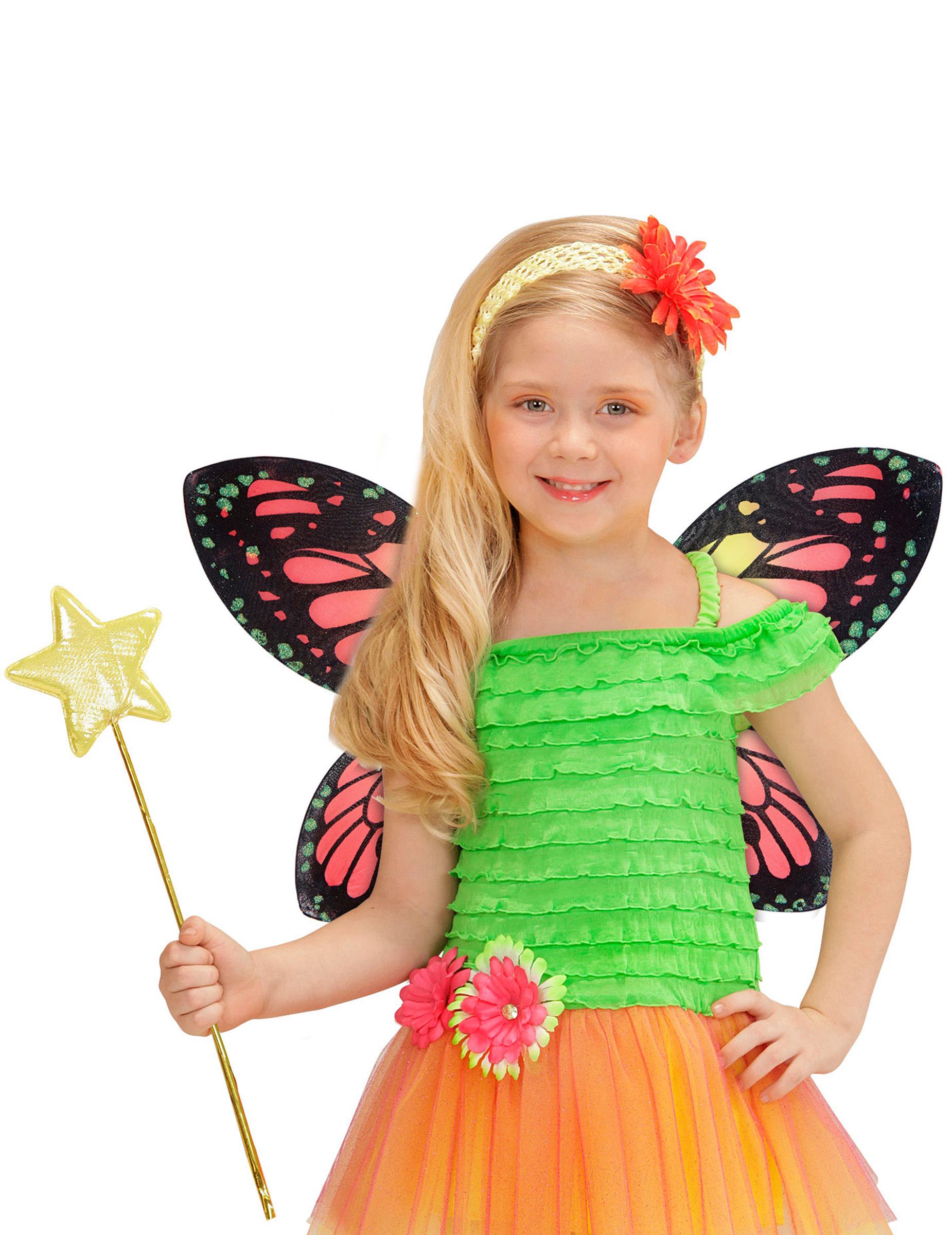 alas de mariposa multicolor nia