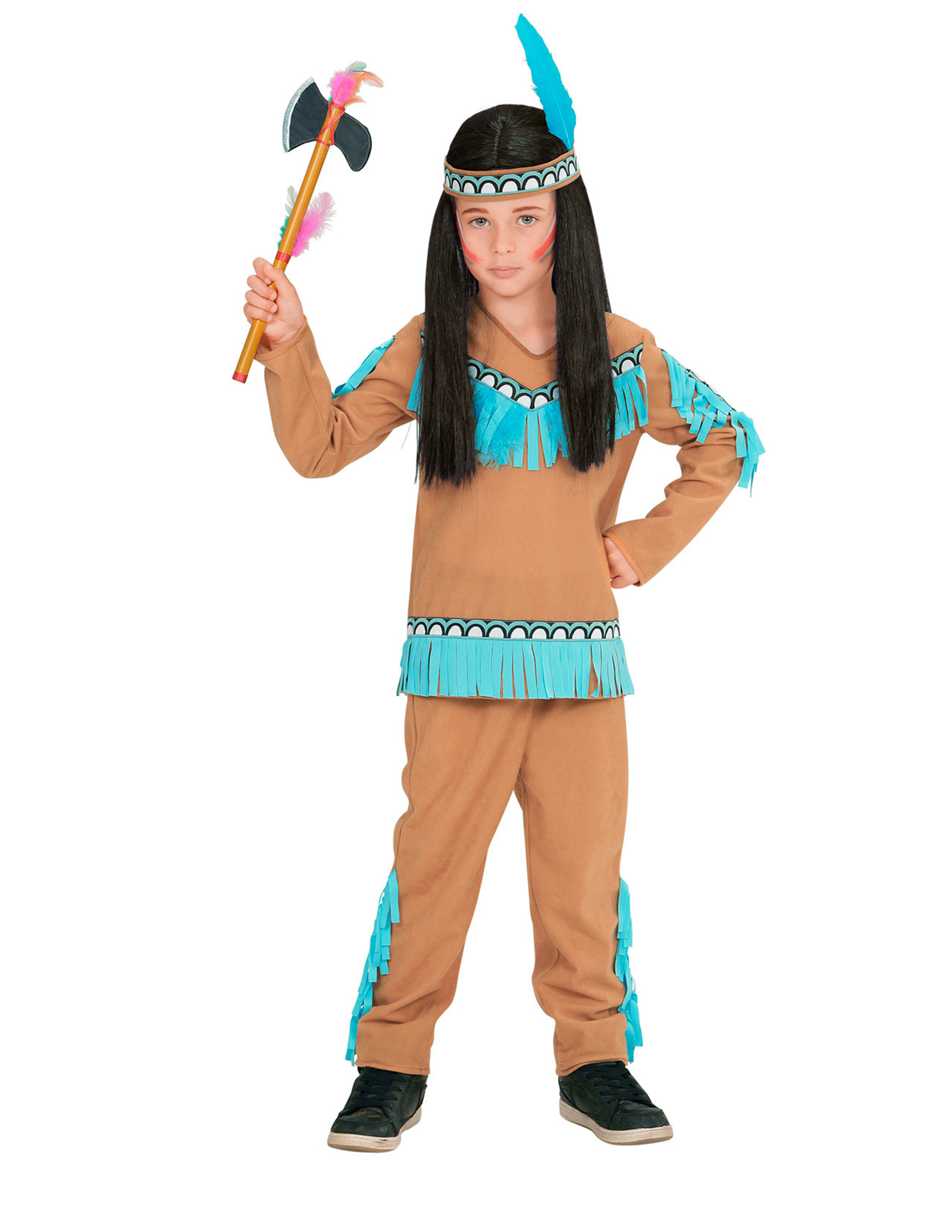 3225c420275cc Disfraz de indio azul para niño  Disfraces niños