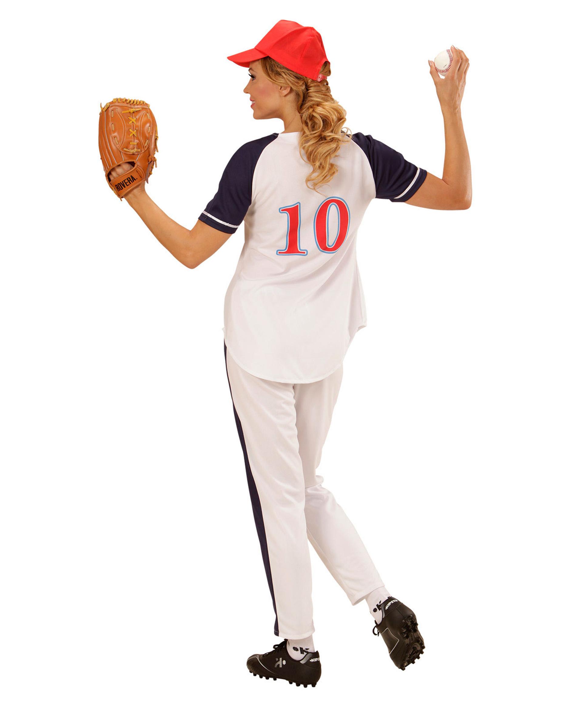 Disfraz jugadora béisbol mujer  Disfraces adultos 735ce2459a4