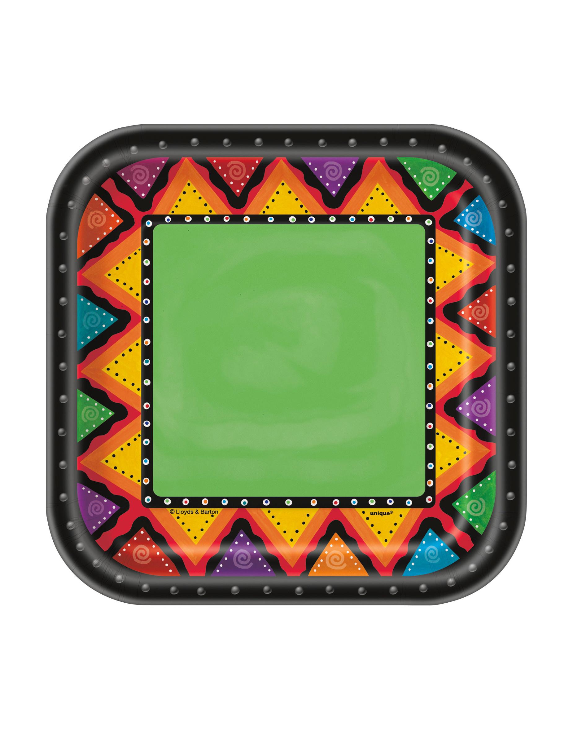 10 Platos pequeños de cartón México  Decoración 37587302733