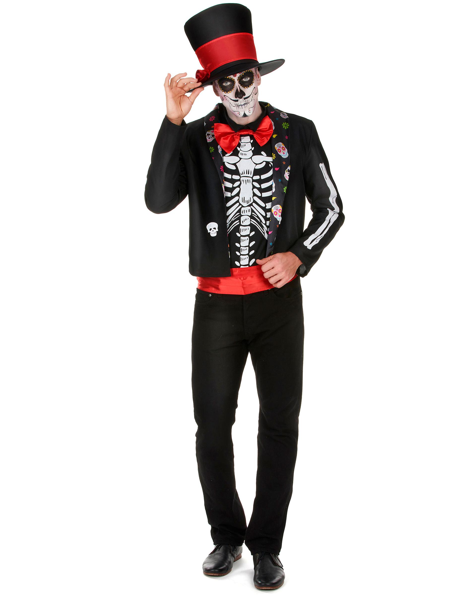 Disfraz de esqueleto Día de los Muertos hombre: Disfraces ...