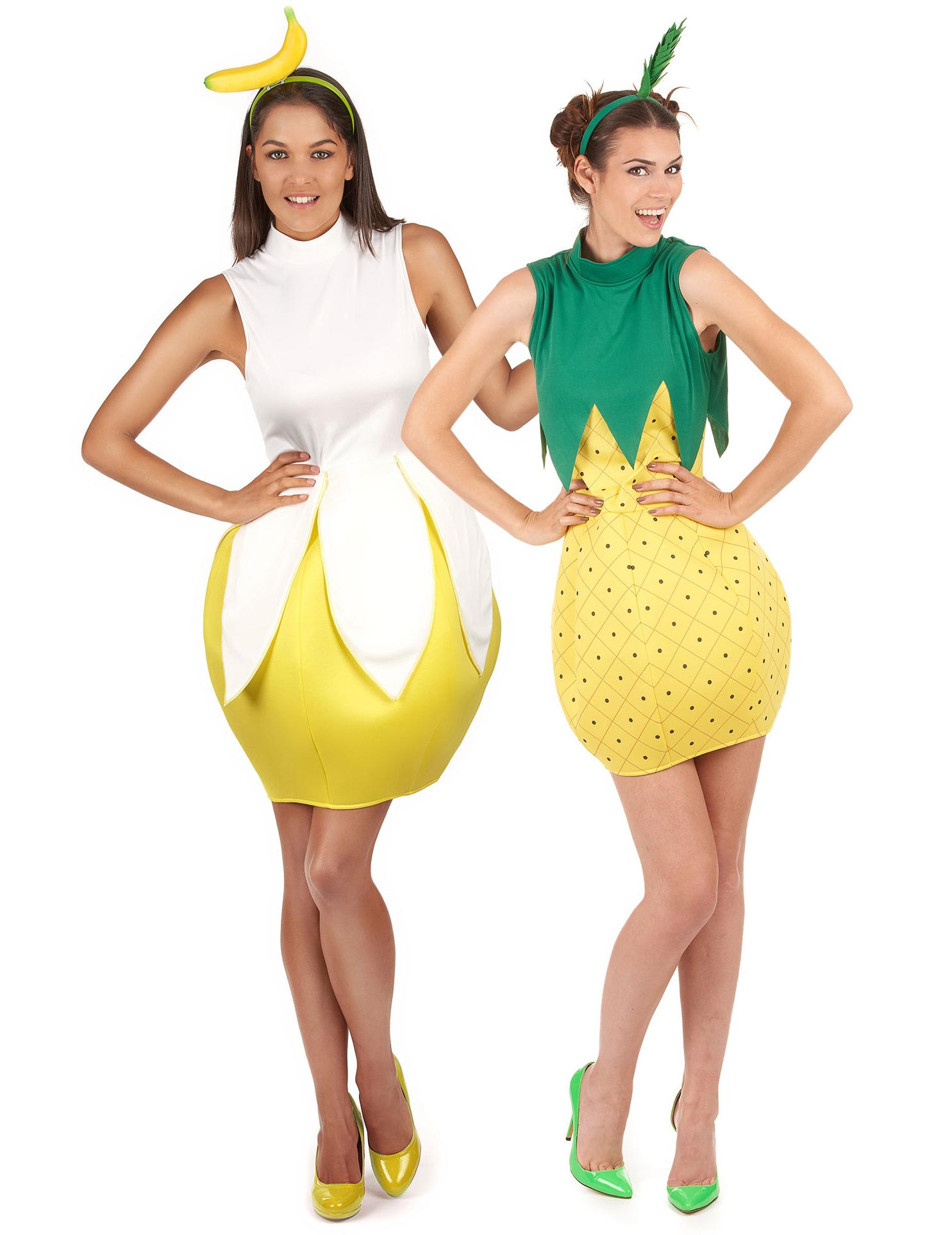 disfraces mujer frutas