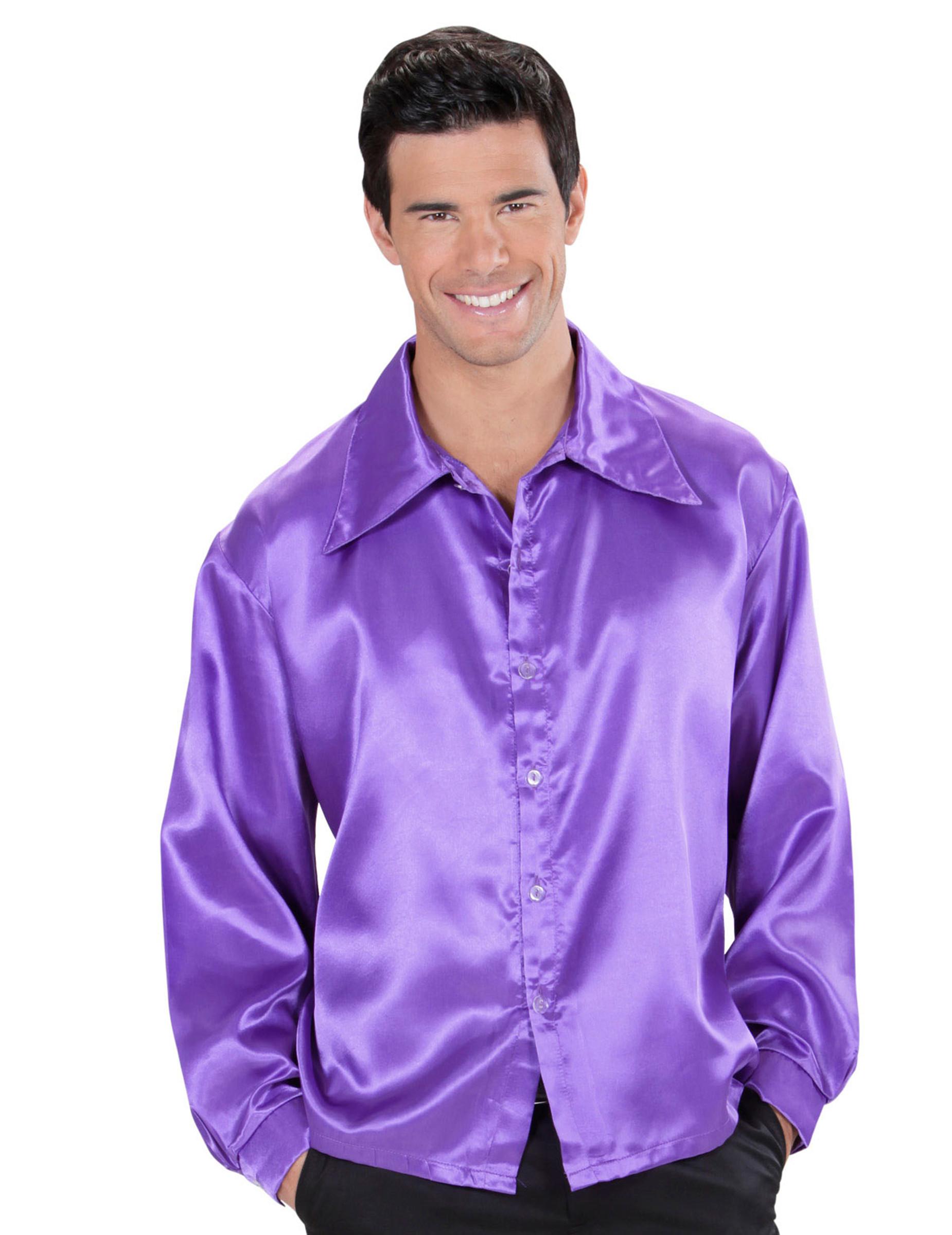 4804147d4895b Camisa satinada Violeta hombre  Disfraces adultos