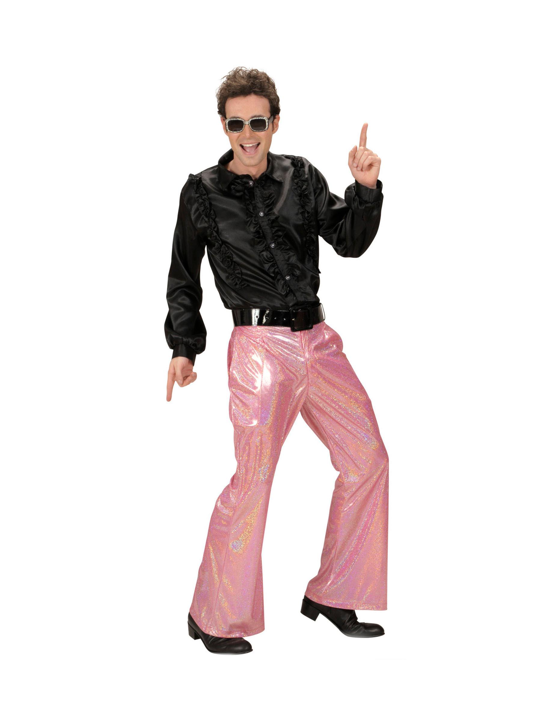 Pantalón disco holográfico verde hombre: Disfraces adultos,y ...