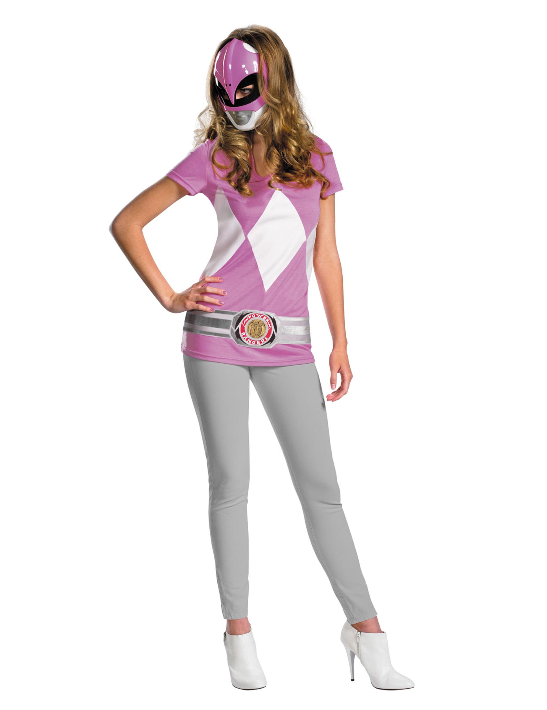 Disfraz De Power Rangers Rosa Para Mujer Disfraces
