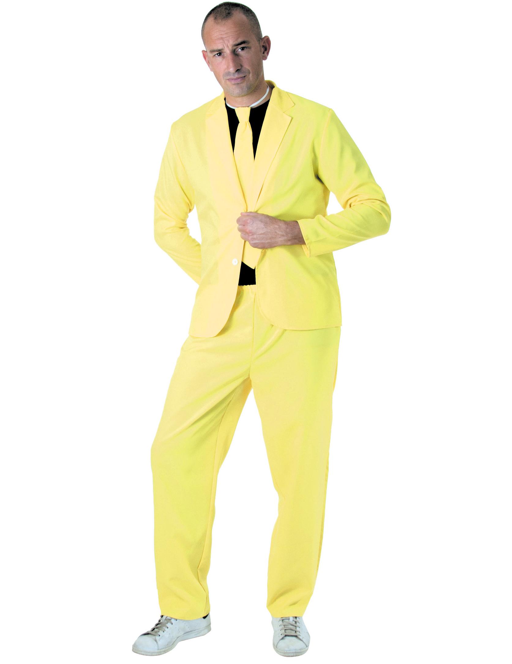 Adulto y Fahion Traje Fluo Amarillo Adultos Disfraces StwTnqx