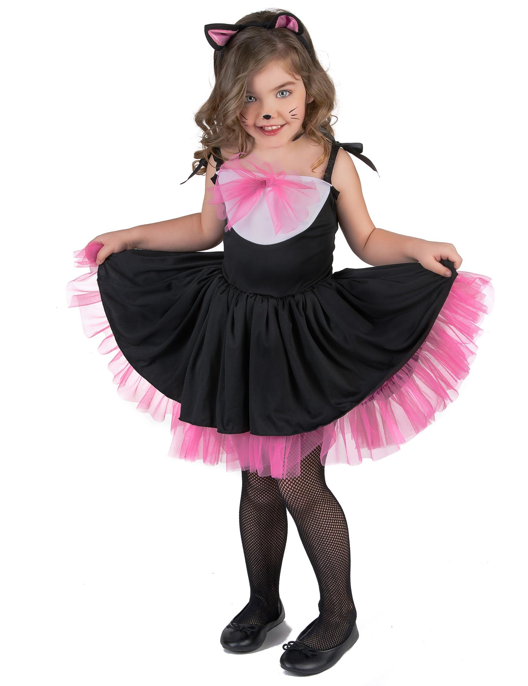 Disfraz de gato tut negro y rosa ni a disfraces ni os y - Disfraces el gato negro ...