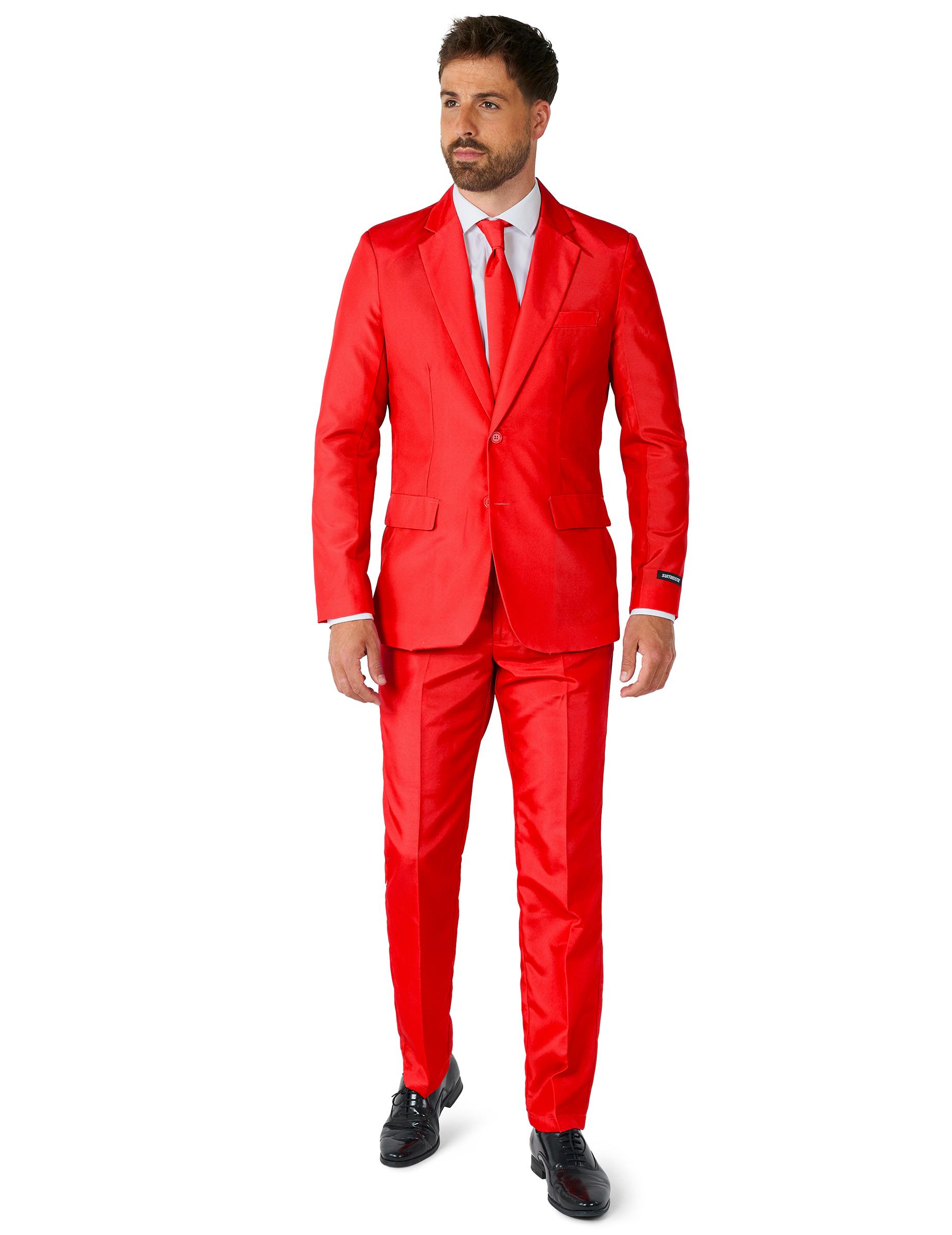 grandes ofertas obtener nueva comprar online Traje Mr Solid Rojo Hombre Suitmeister™