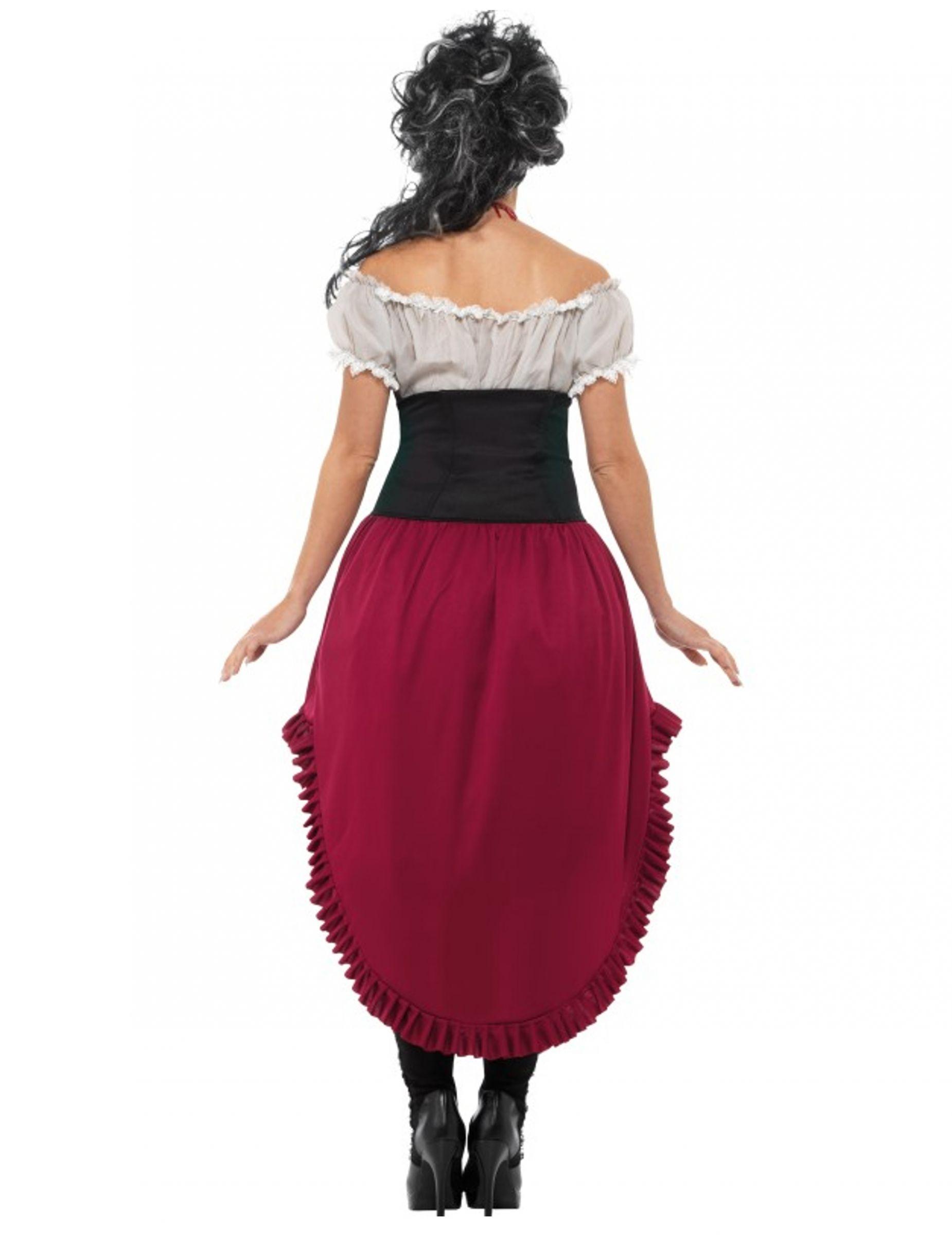 Disfraz pirata fantasma ensangrentado mujer Halloween ...