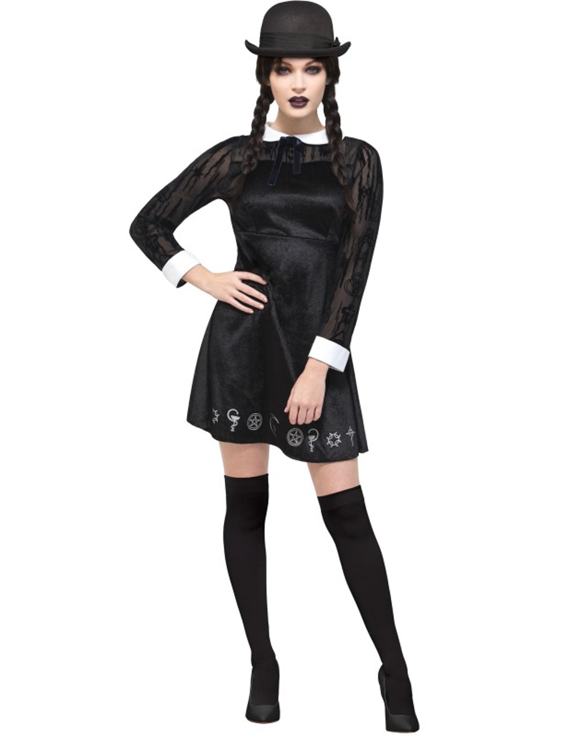 4731b8811 Disfraz de colegiala gótica mujer Halloween: Disfraces adultos,y ...