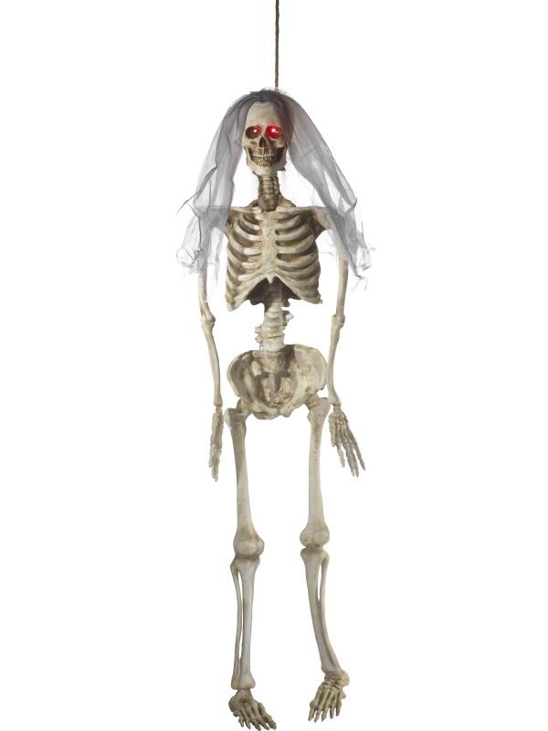 Decoración para colgar animada novia esqueleto lujo 170 cm Halloween ...