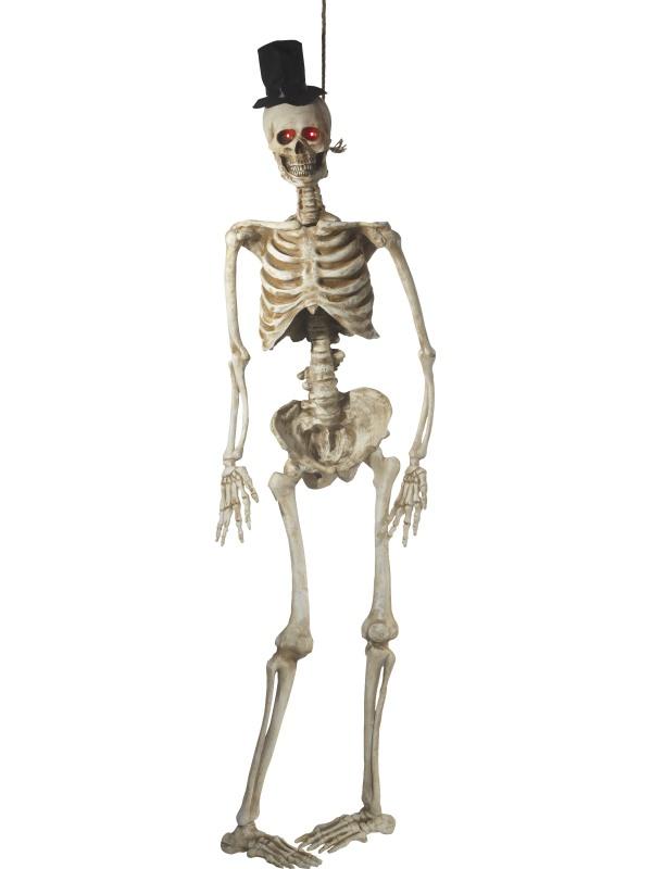 Decoración para colgar animada novio esqueleto lujo 170 cm Halloween ...