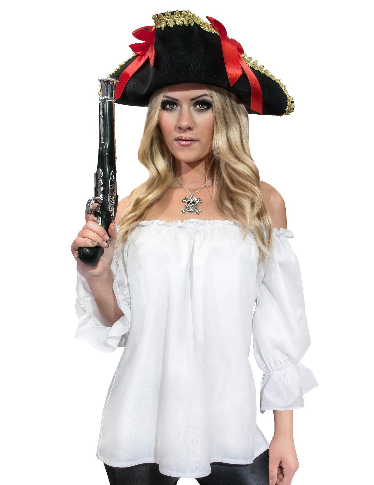 Pirata Disfraces Edad Media Camisa Blanca Adultos y Mujer gqRTndw