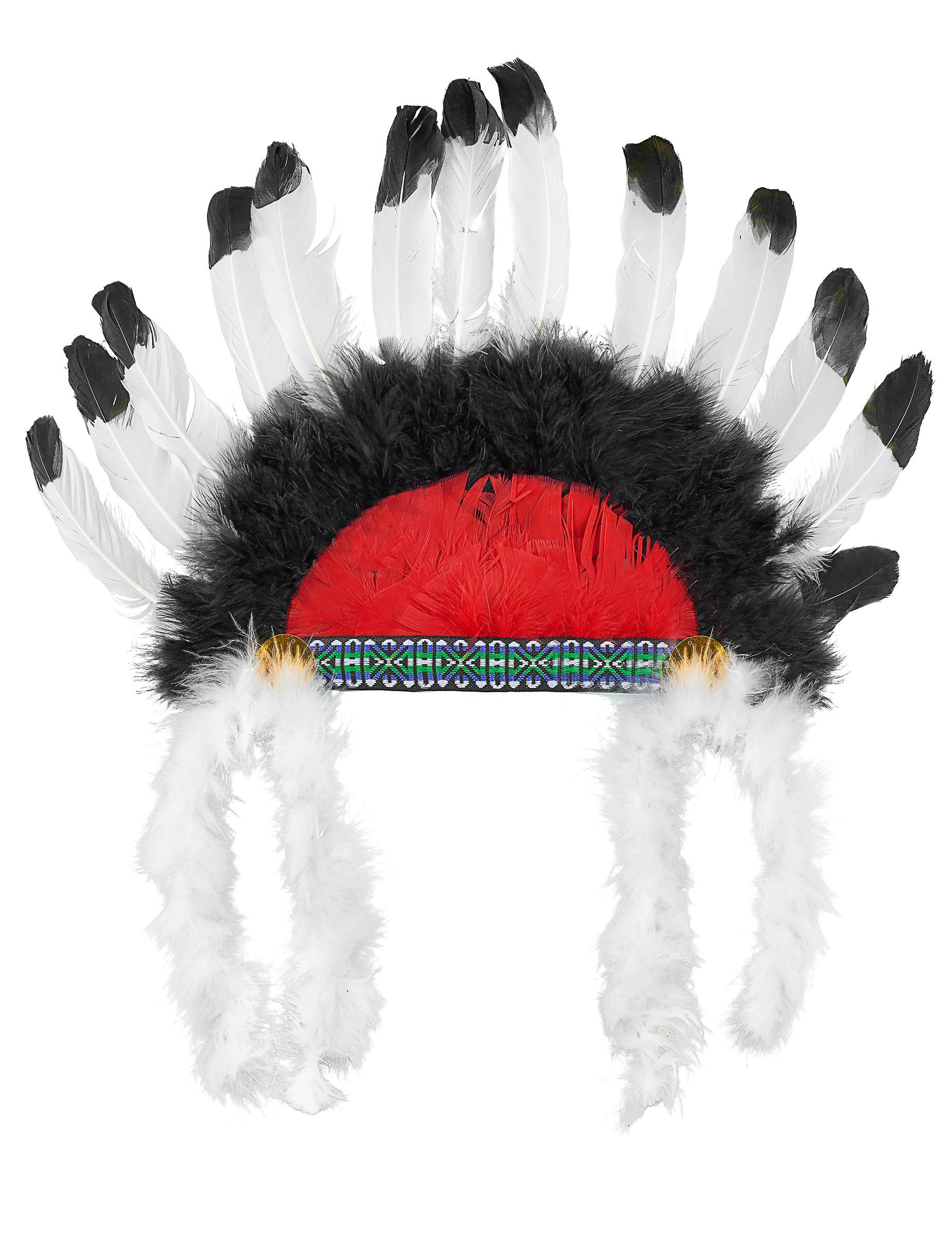 Cofia jefe indio con plumas niño: Sombreros,y disfraces originales ...