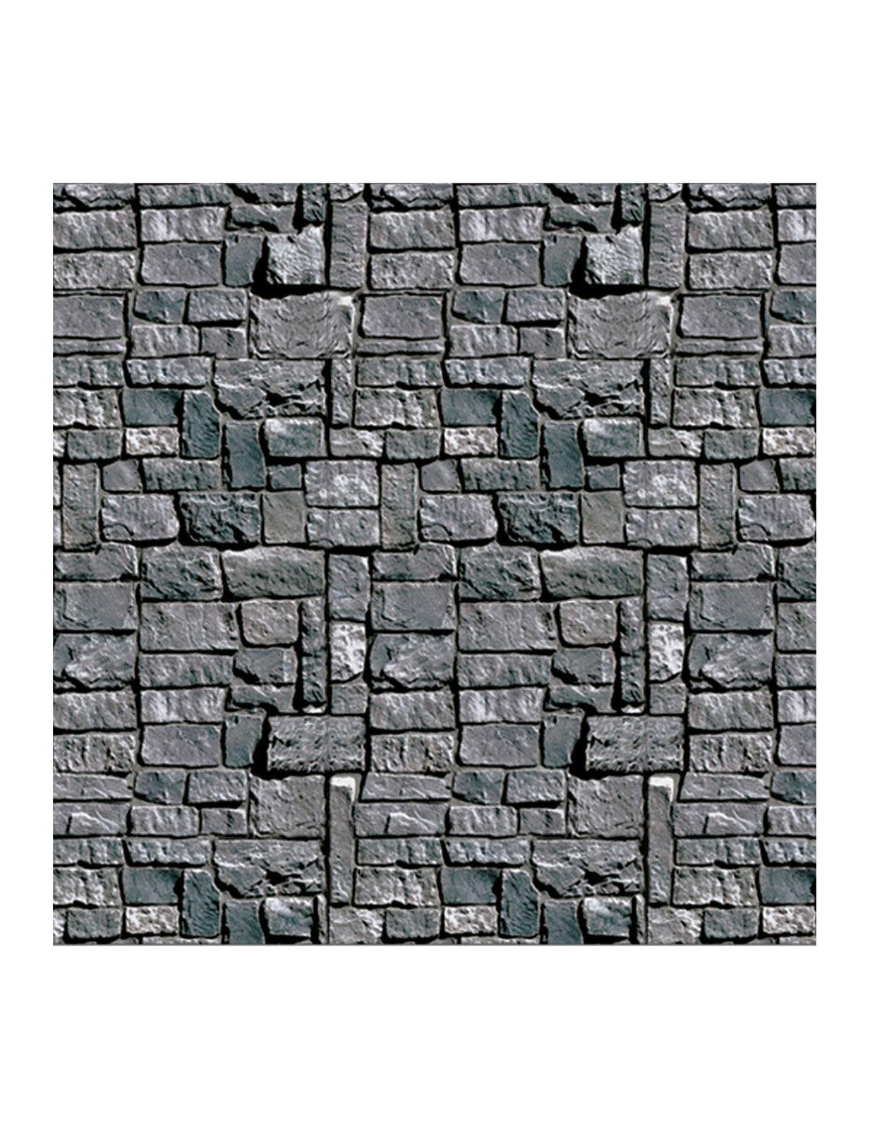 Decoracion Muro De Piedra Gris Halloween 12 X 91 M Decoraciony - Piedra-decoracion