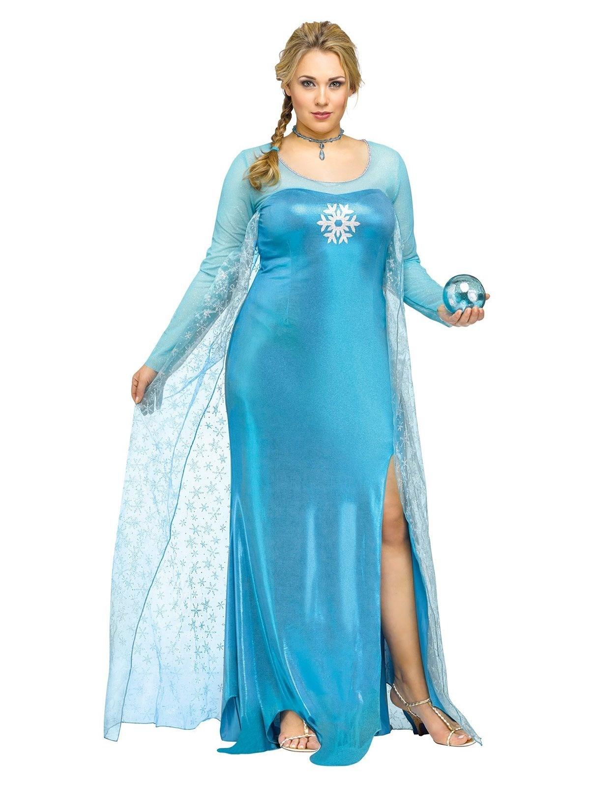 Disfraz princesa de la nieve azul mujer talla grande  Disfraces ... d452b39a4418