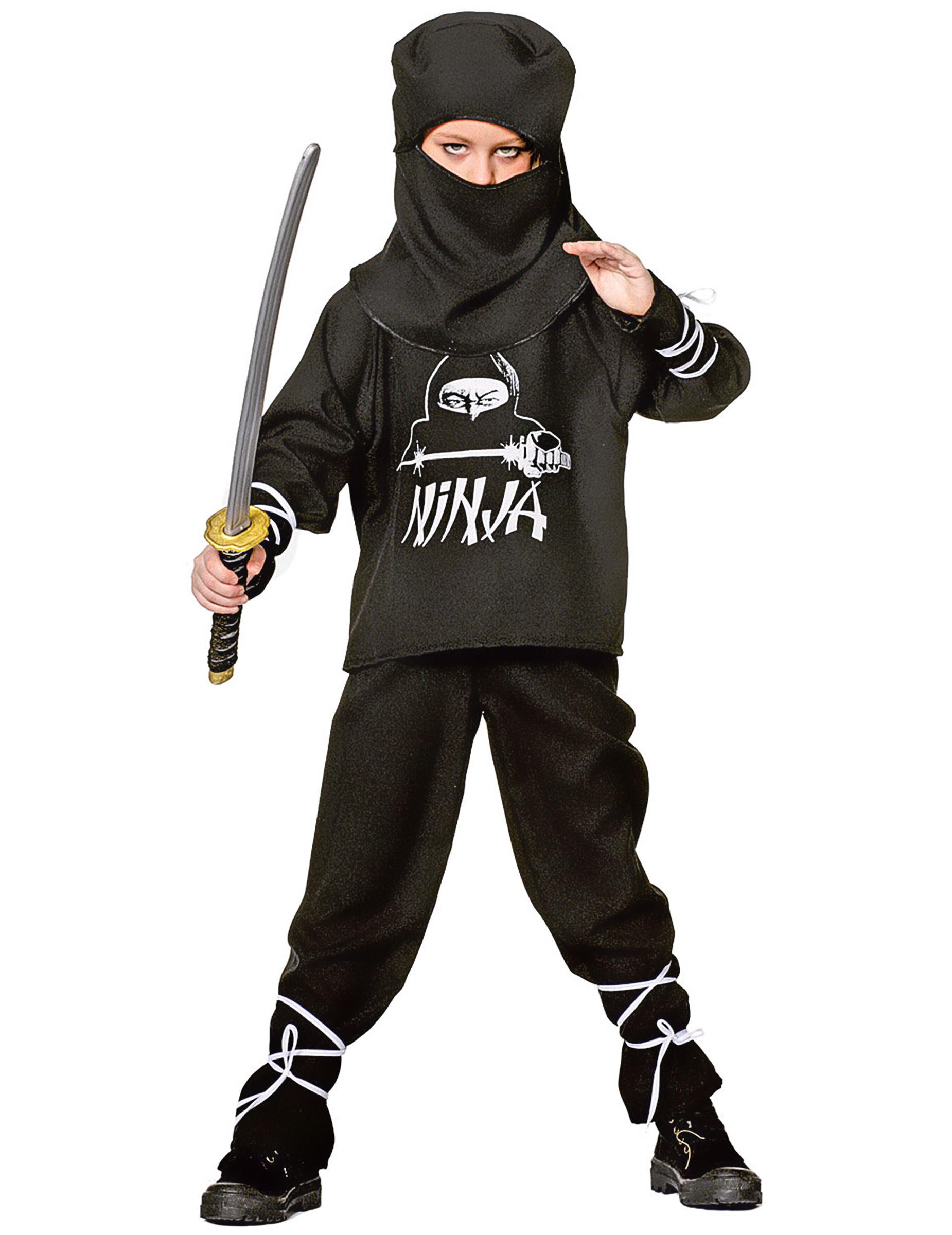 Disfraz ninja negro y blanco para niño  Disfraces niños 377706a5e1b