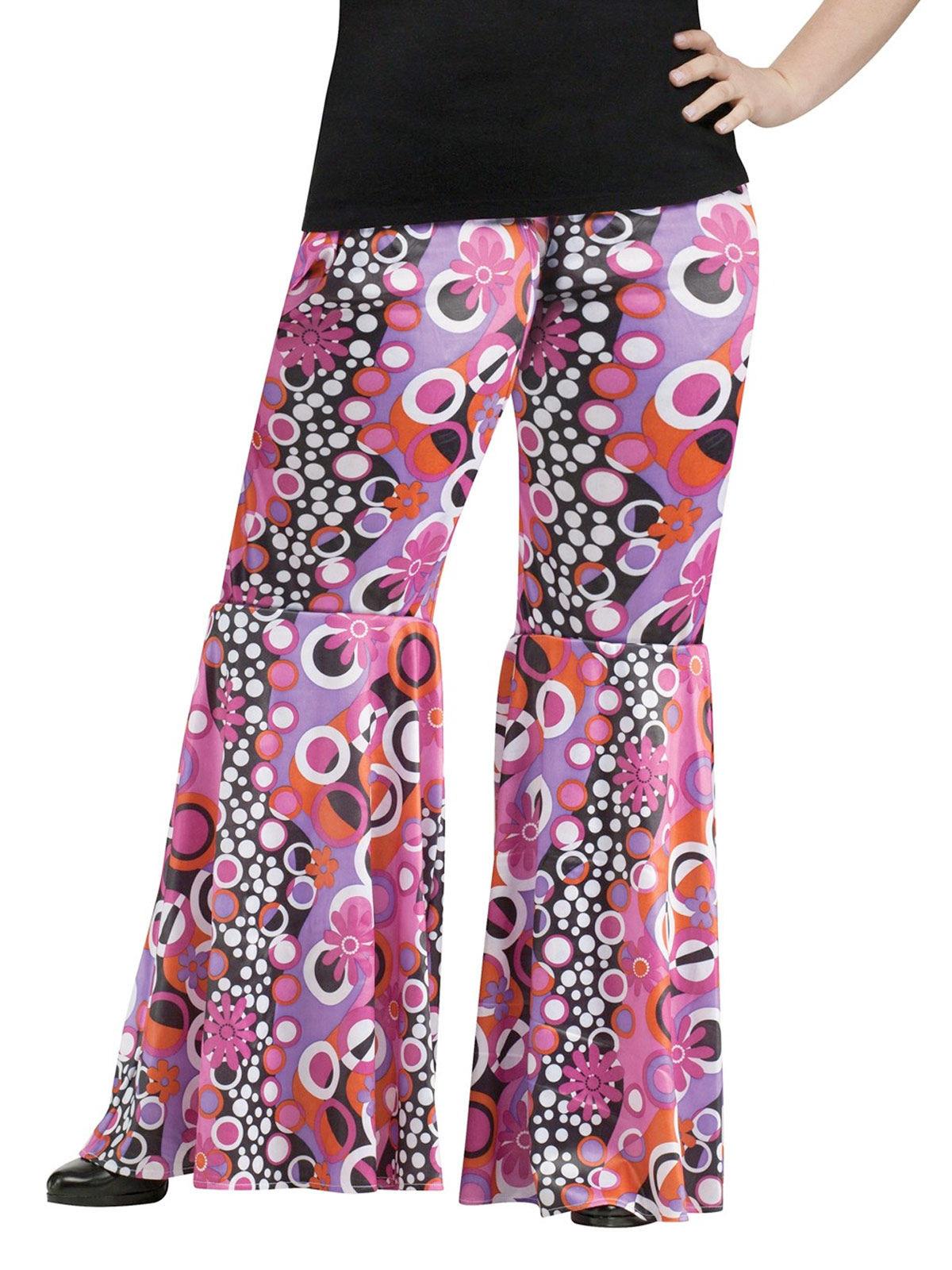 Pantalón hippie motivos flower power talla grande: Disfraces adultos ...