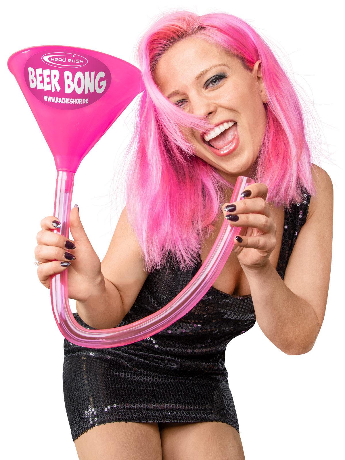 Embudo para cerveza rosa 70 cm Headrush Beer bong®: Decoración,y ...